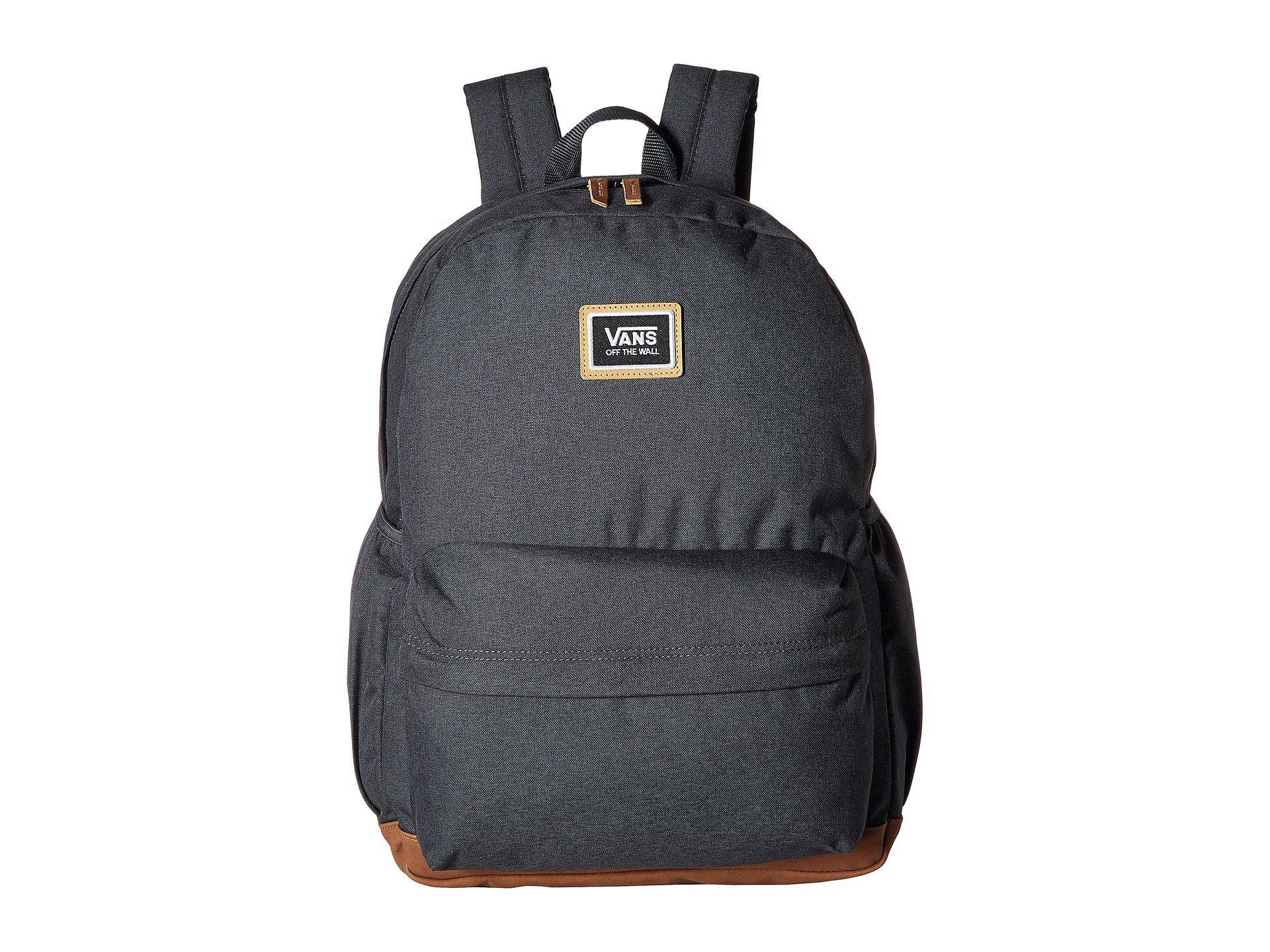 640a064a459 Vans Black Realm Plus Backpack (asphalt) Backpack Bags