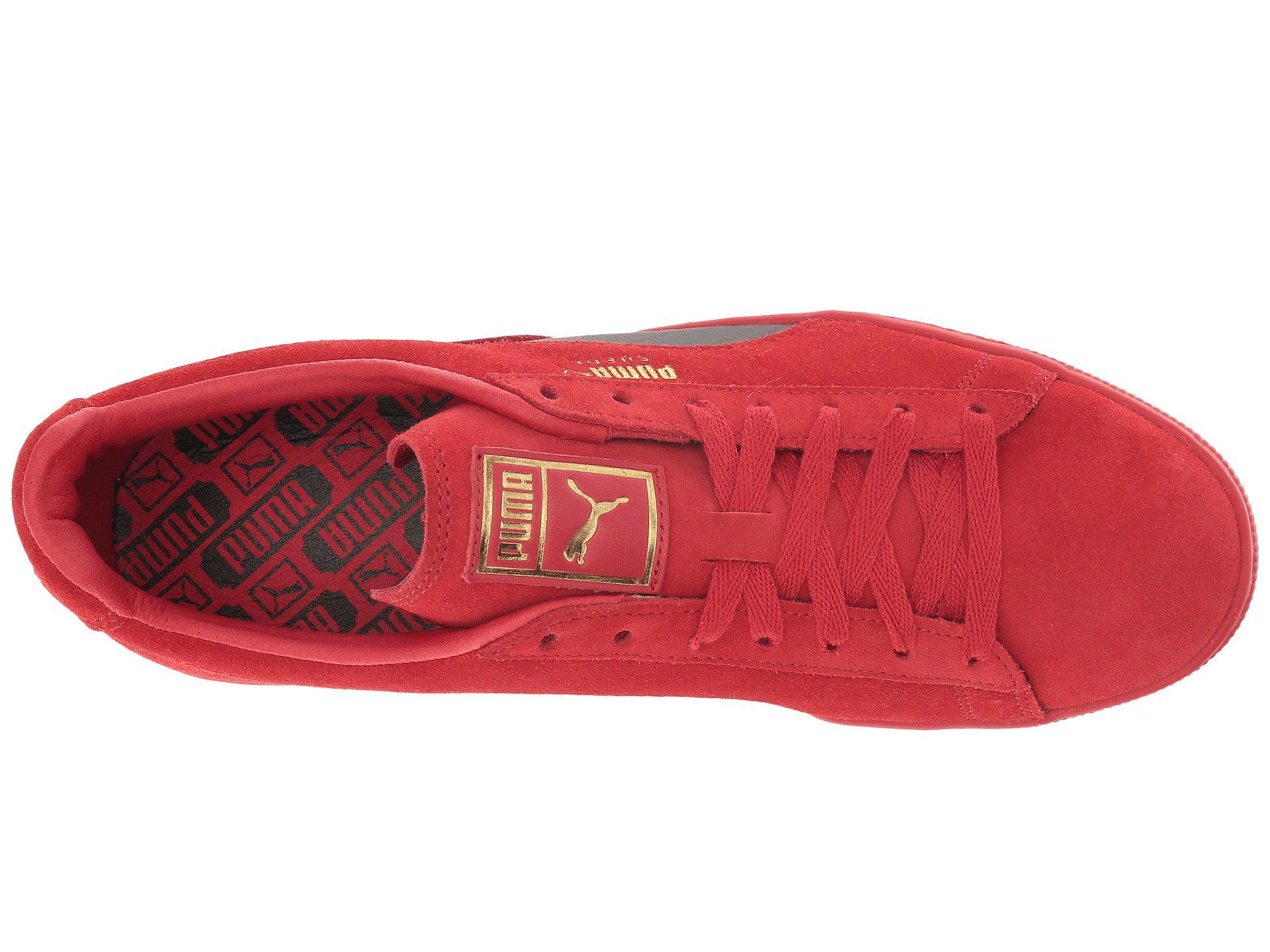 buy popular 30fa2 5b9d3 Red Sf Suede 50 (rosso Corsa/rosso Corsa/rosso Corsa) Men's Lace Up Casual  Shoes
