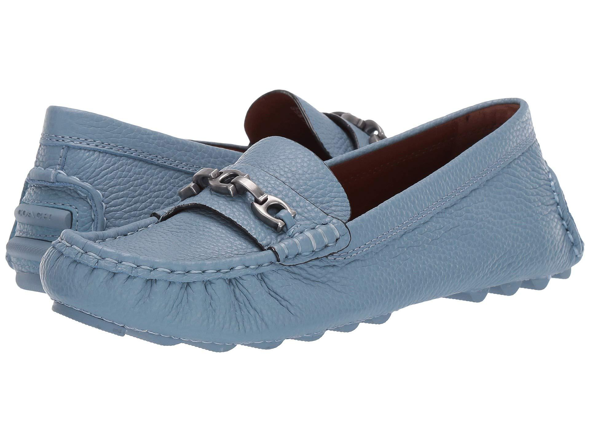 63d552167e2 Lyst - COACH Crosby Driver (chalk Leather) Women s Slip On Shoes in Blue
