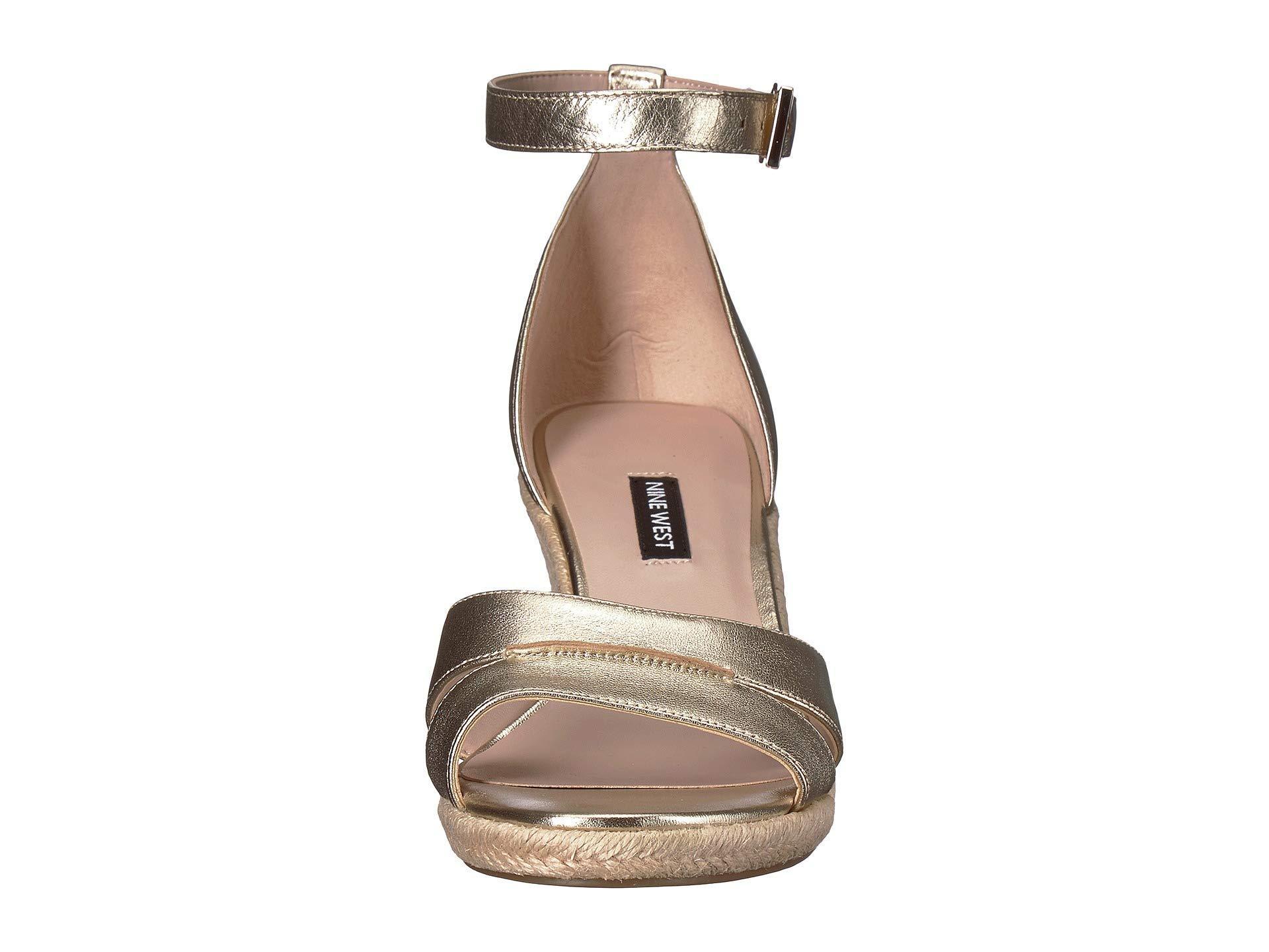 5b1ffdfc1c0 Nine West - Metallic Jabrina Espadrille Wedge Sandal (black) Women s Shoes  - Lyst. View fullscreen