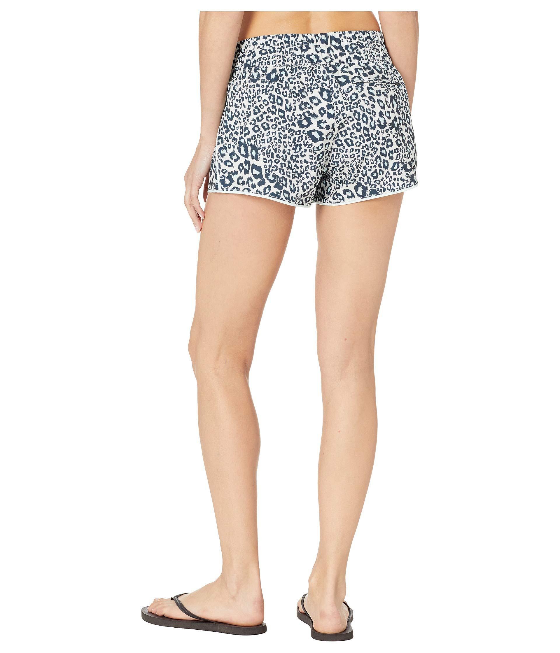 Womens Boardshorts Tartan Plaid Flowers Leopard Skin Animal Quick Dry Bathing Suits Mesh Lining Beach Board Shorts