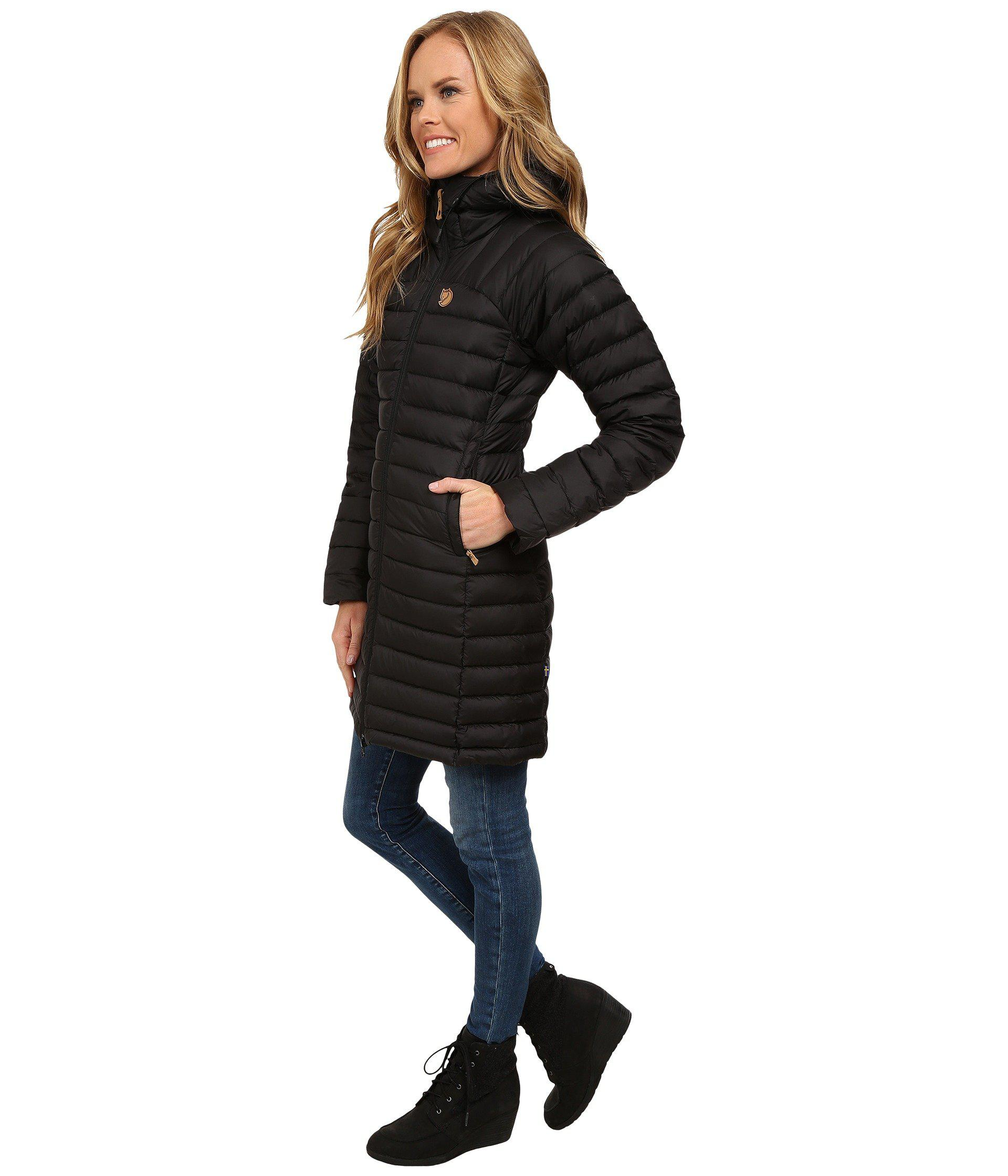 2f96b2b38ec0e Lyst - Fjallraven Snow Flake Parka (dark Garnet) Women s Coat in Black