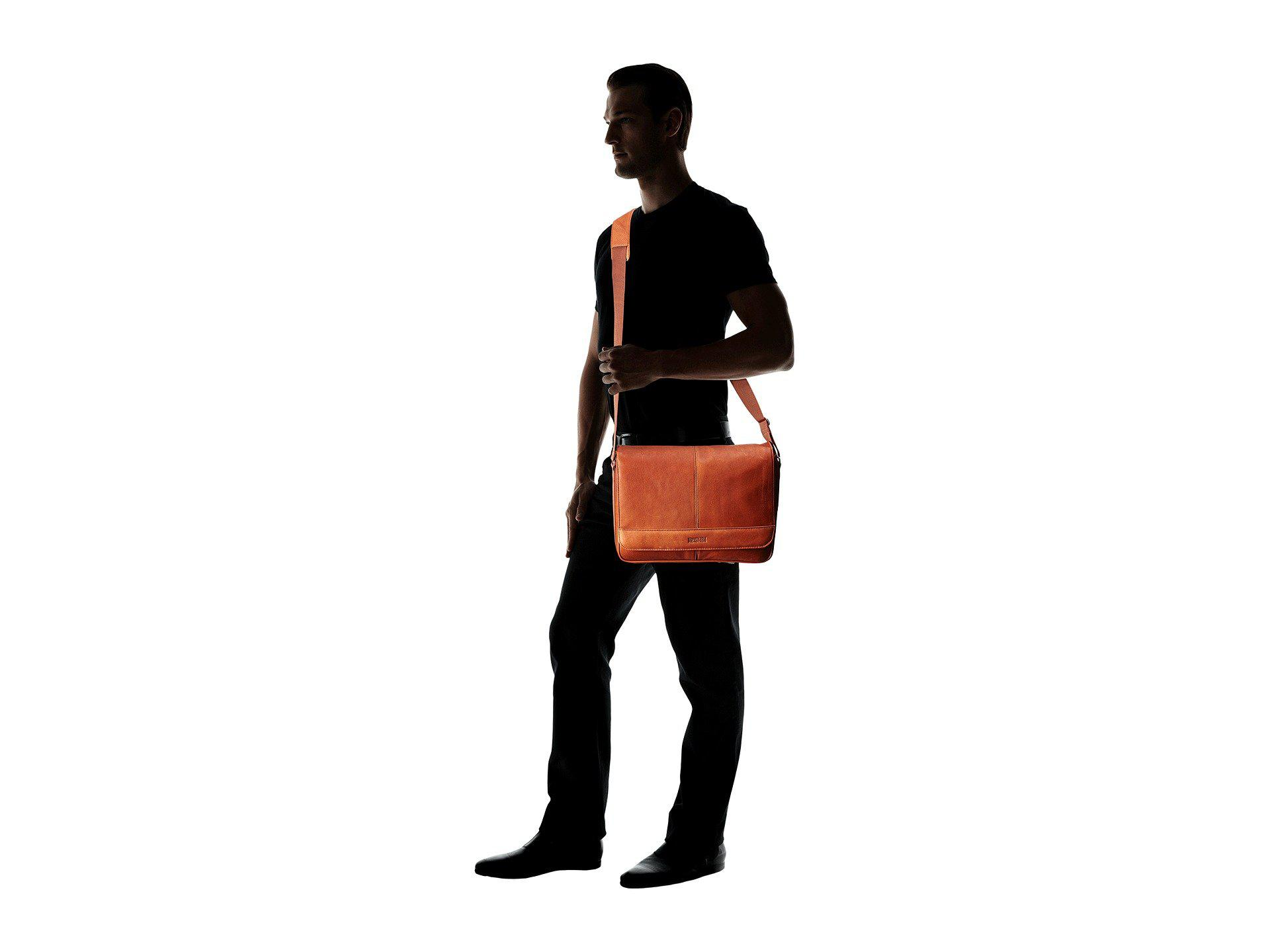 Kenneth Cole Reaction - Brown Risky Business Colombian Leather Flapover Messenger  Bag for Men - Lyst. View fullscreen 10b89aac1b218