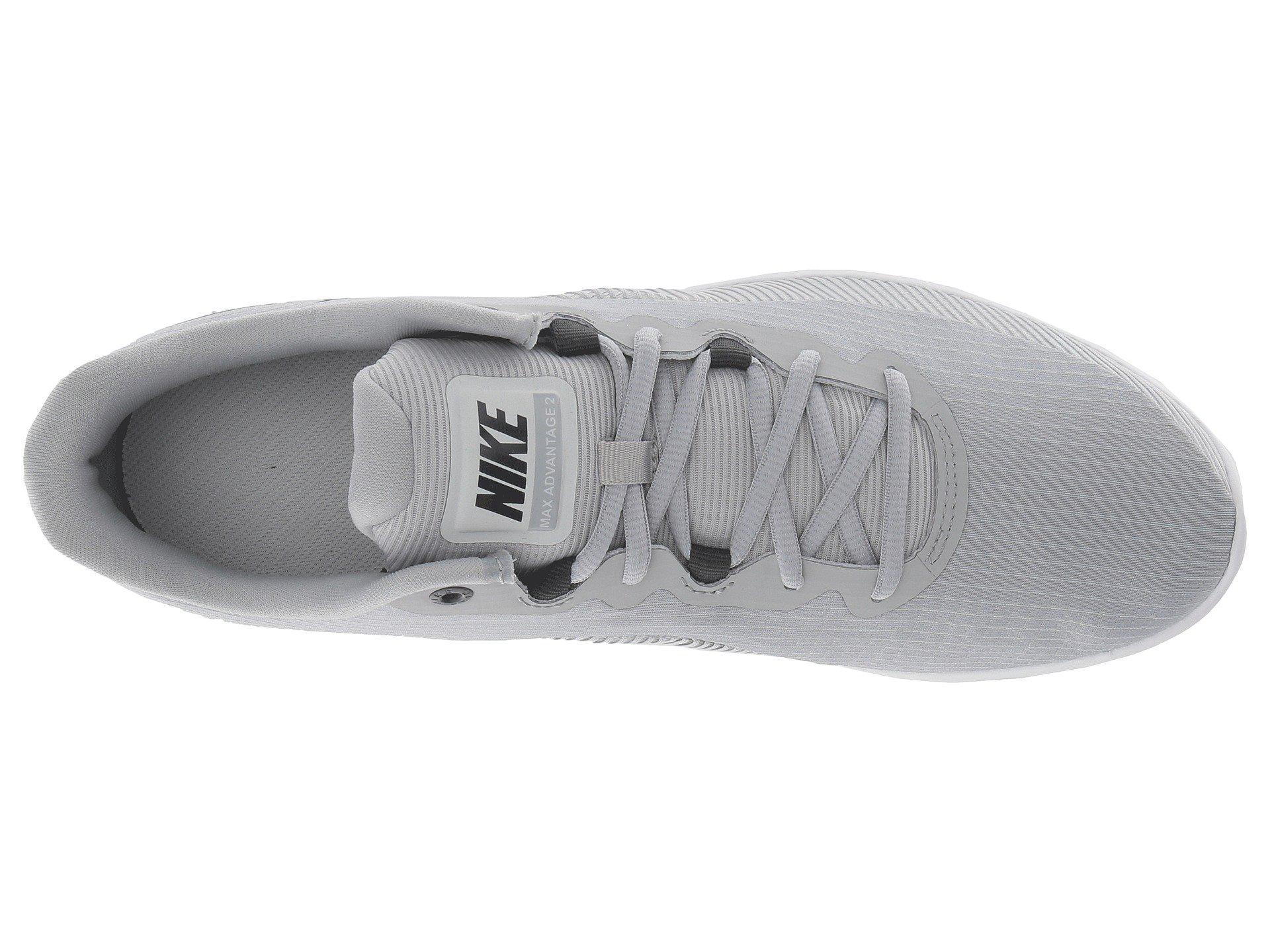 Nike Gray Air Max Advantage 2 (blackwhiteanthracite) Men's Running Shoes for men