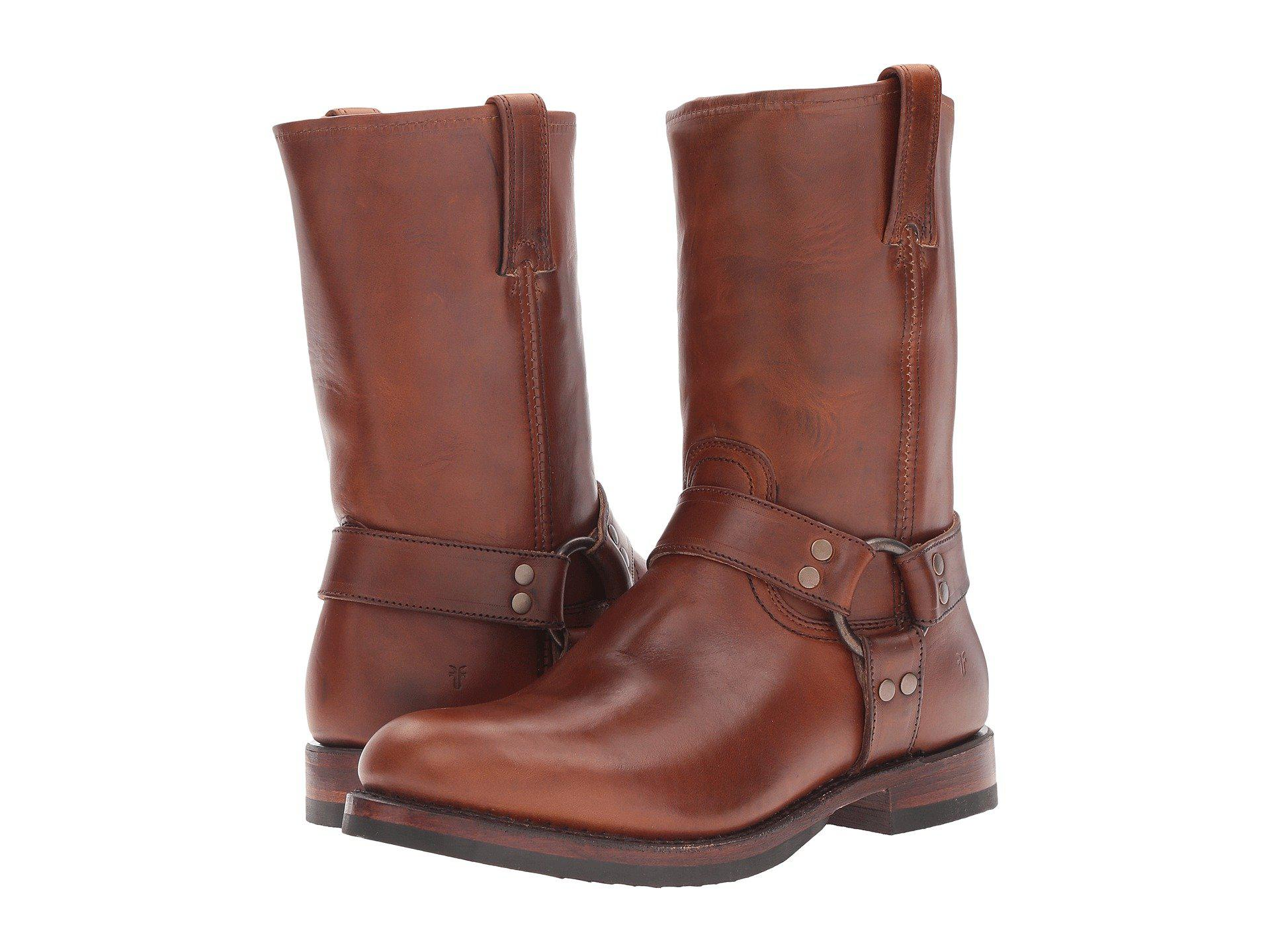 f615a59ba63 Frye. Women s Brown John Addison Harness (whiskey Smooth Pull-up Leather) Men s  Boots