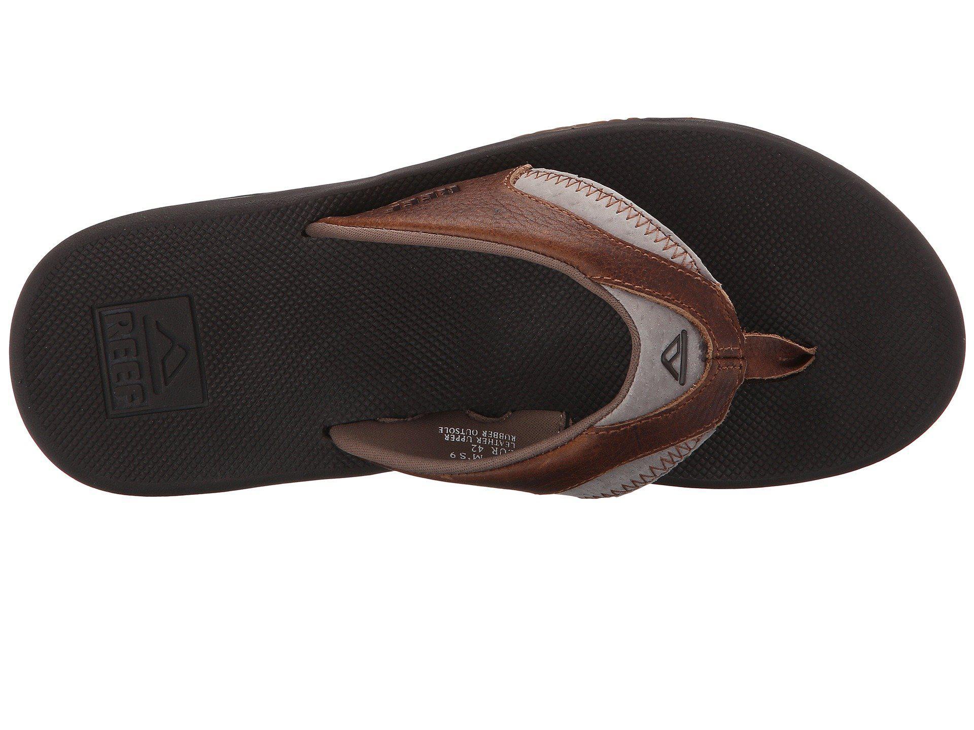 2190542674c7 Reef - Brown Fanning Leather (bronze) Men s Sandals for Men - Lyst. View  fullscreen