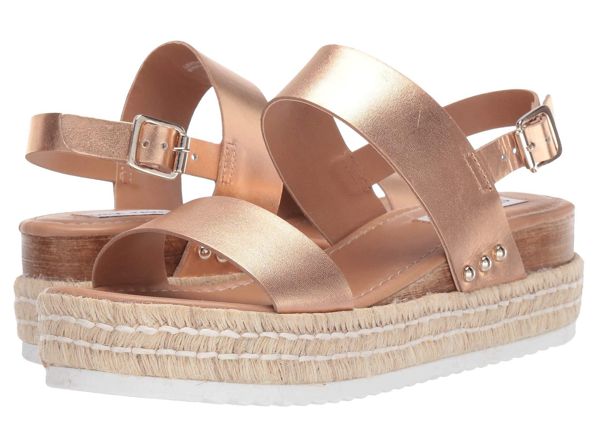 52ed714e7065 Lyst - Steve Madden Catia Wedge Sandal (white Leather) Women s Wedge ...