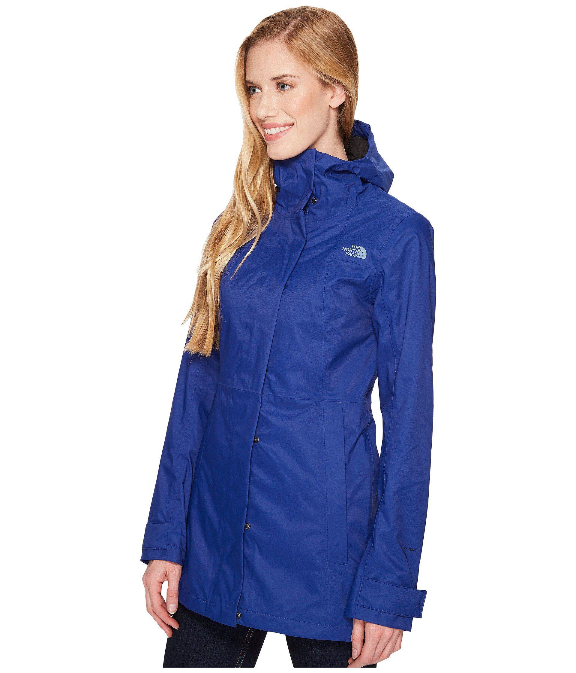 e30a42036d95 Lyst - The North Face City Midi Trench (tnf Black) Women s Coat in Blue