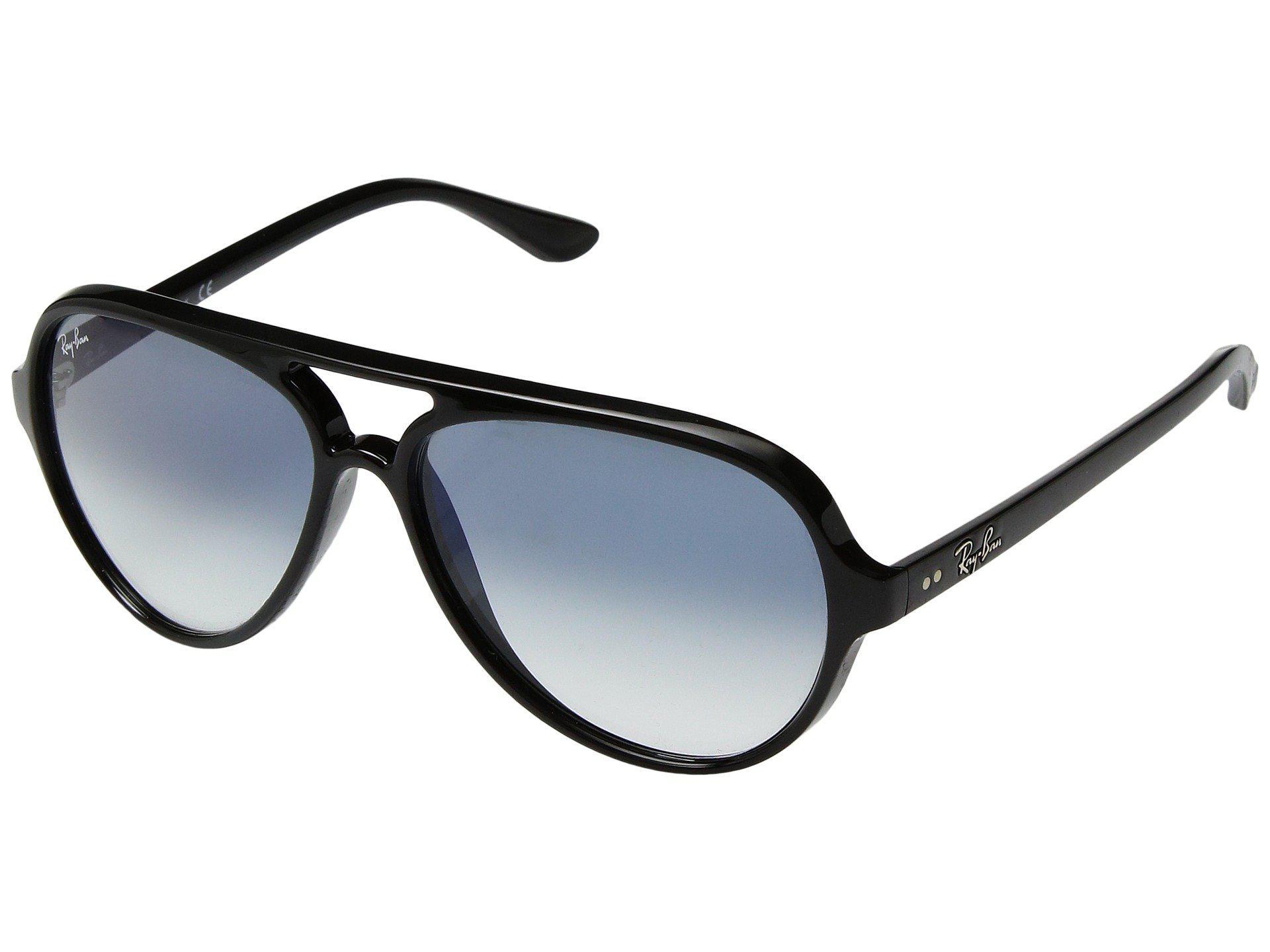 440d4b4705 Ray-Ban. Women s Cats 5000 Rb4125 59mm (black light Blue Gradient) Fashion  Sunglasses