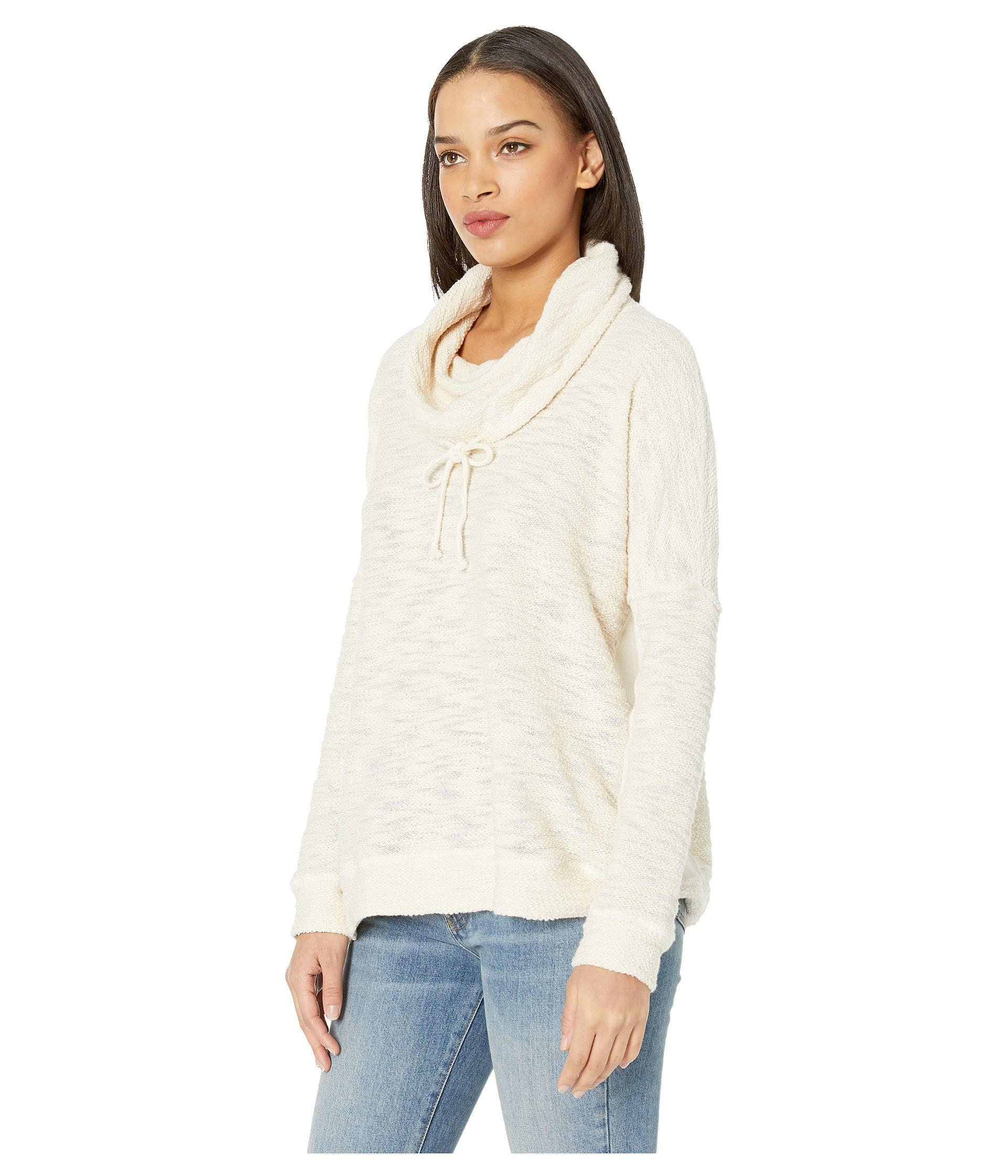 Jack Womens at Your Leisure Slub French Terry Cowl Neck