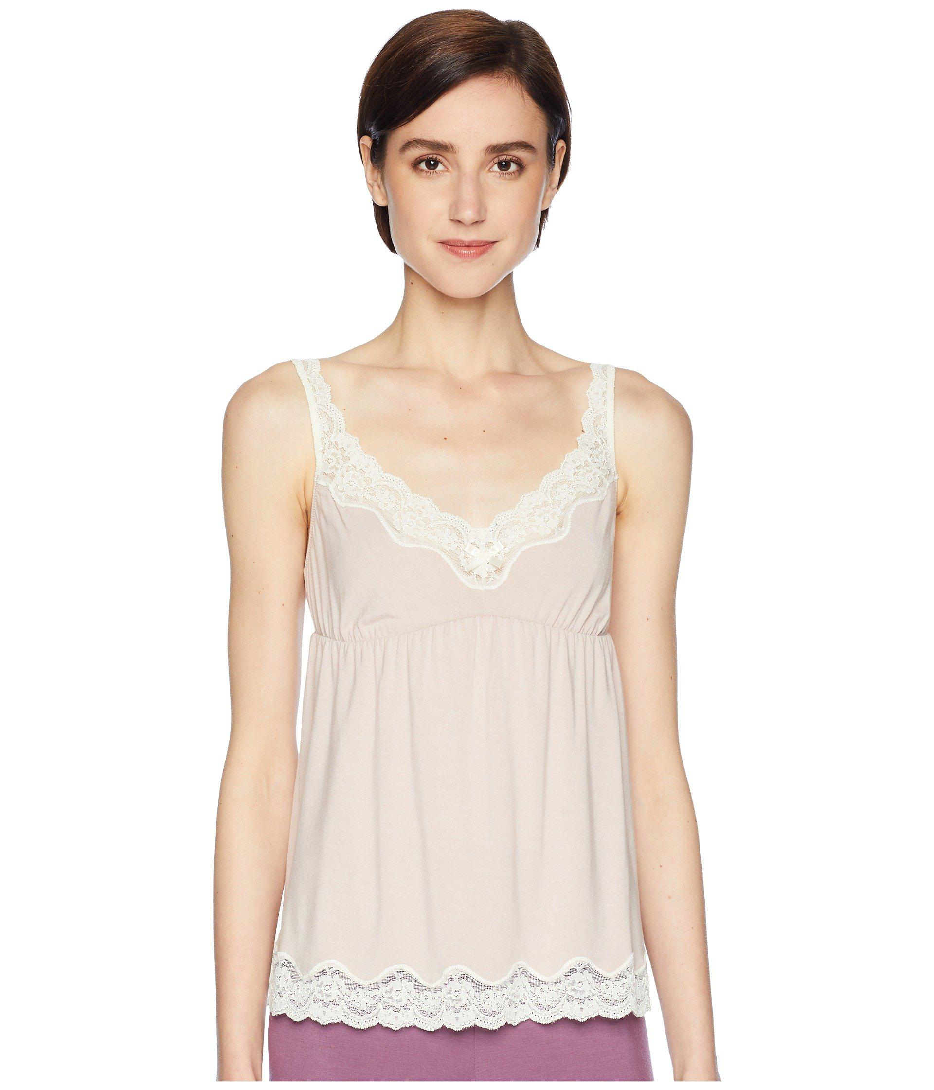 2be07a0e06c6 Lyst - Eberjey New Lady Godiva Cami (pink Clay/off-white) Women's ...