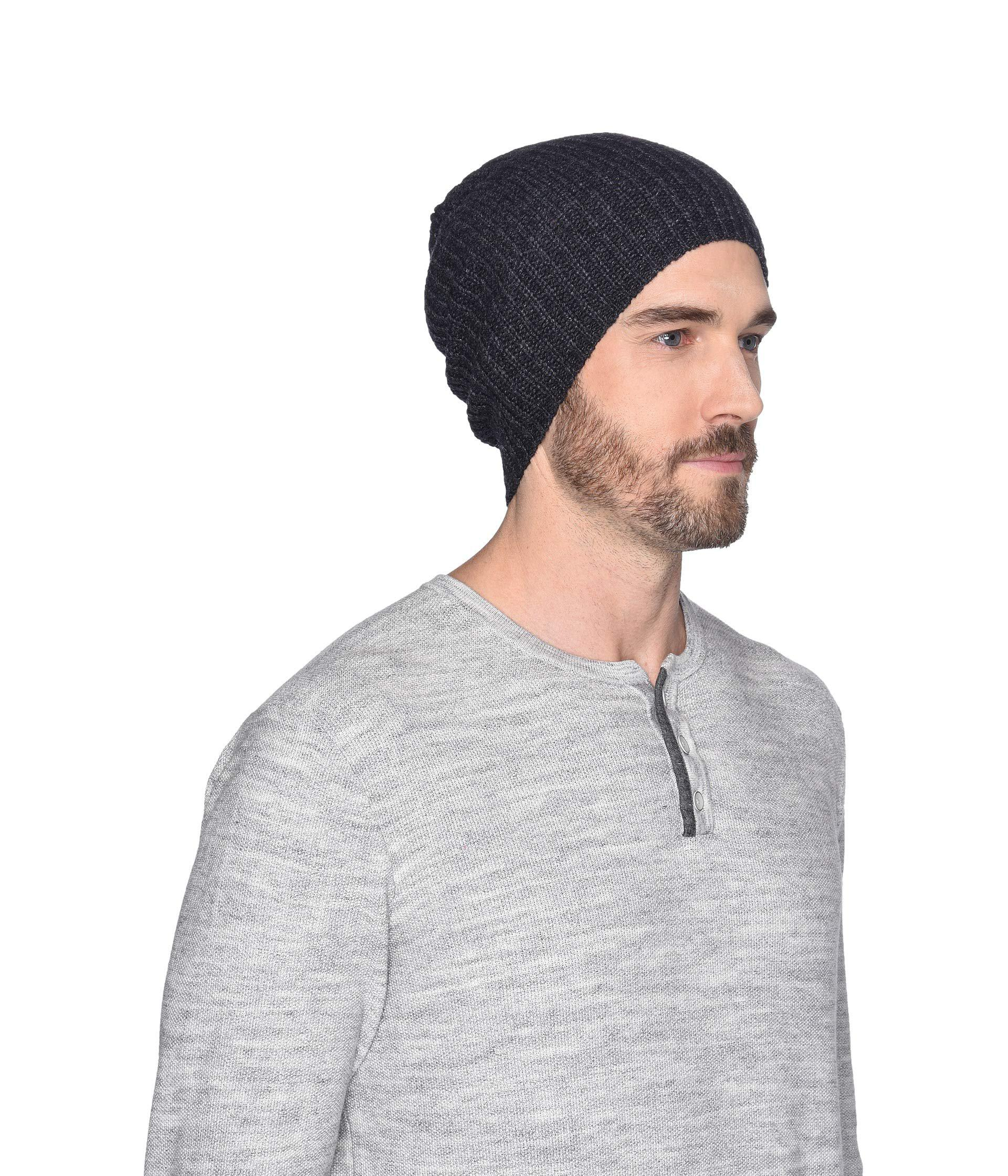 Lyst - Ugg Cardi Stitch Knit Hat (black) Beanies in Gray for Men bc65799771b2