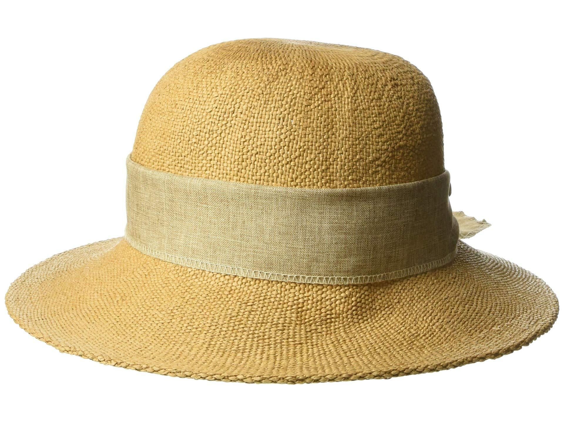 ccc09297 San Diego Hat Company. Women's Brown Pbm3020 - Concentric Brim Cloche With  Linen Bow ...