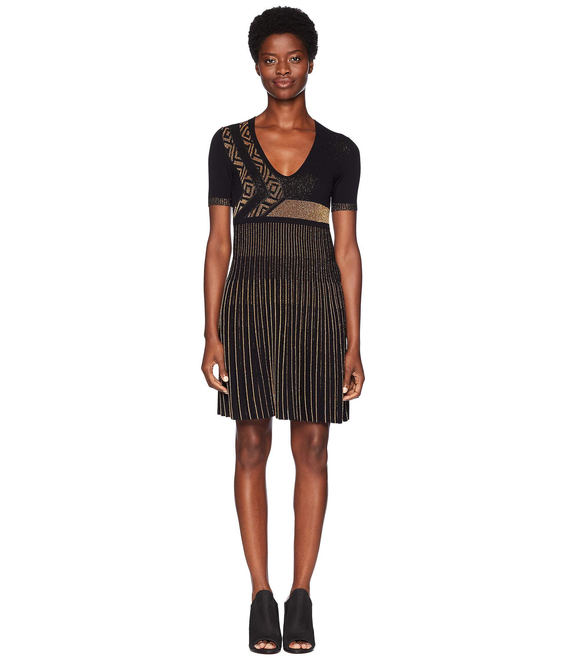 brand new d39bd 21a22 Women's Black Abito Maglia Donna (nero/oro) Clothing