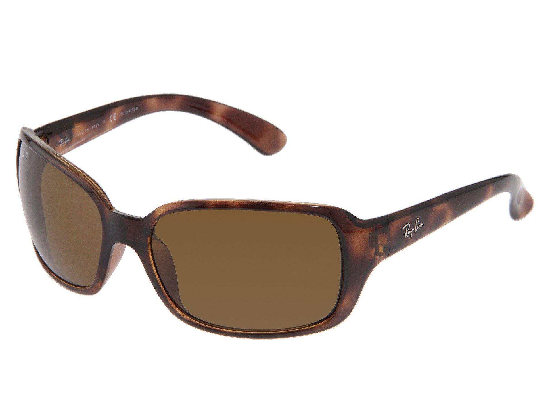1a6b5c4ba700 Ray-Ban. Women s Rb4068 Polarized (havana natural Brown Polarized Lens)  Sport Sunglasses