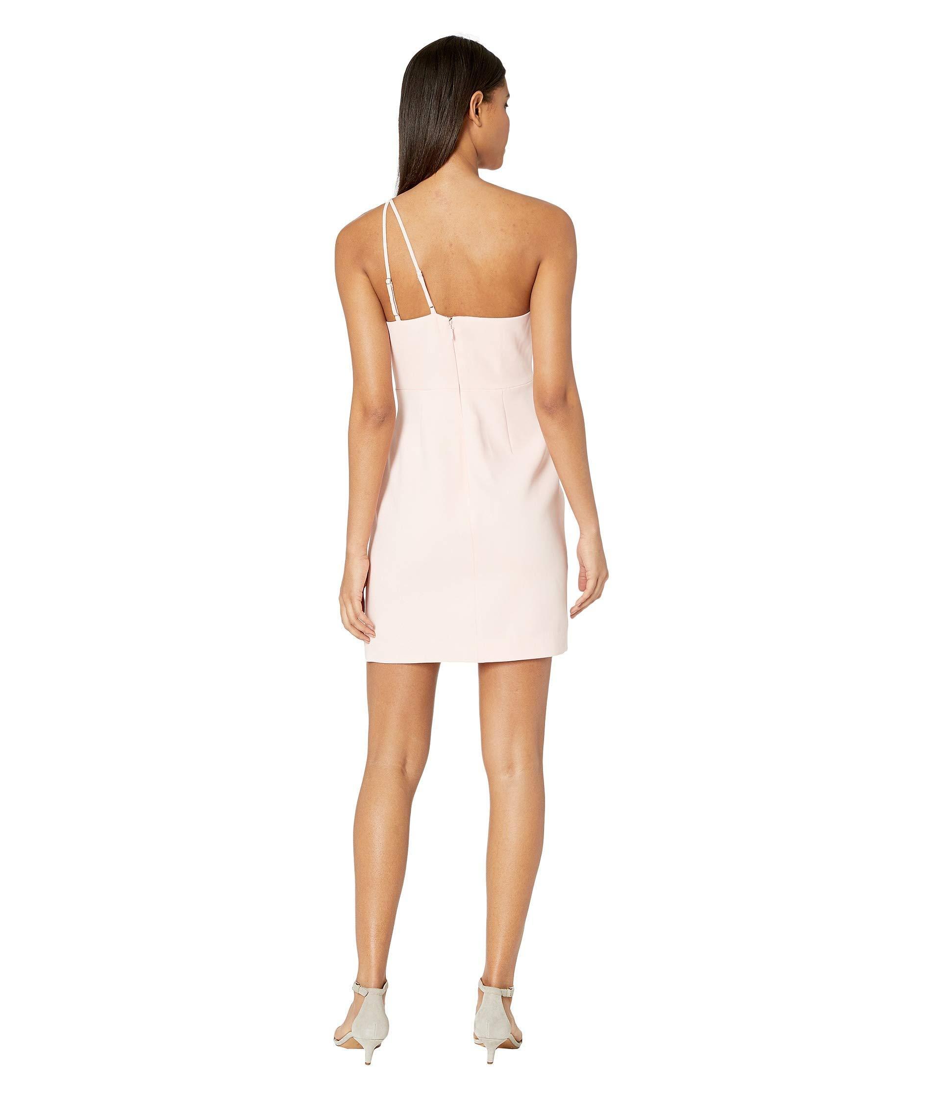 75be764a3e39 BCBGMAXAZRIA - White One Shoulder Cut Out Short Cocktail Dress (soft Petal) Women's  Dress. View fullscreen