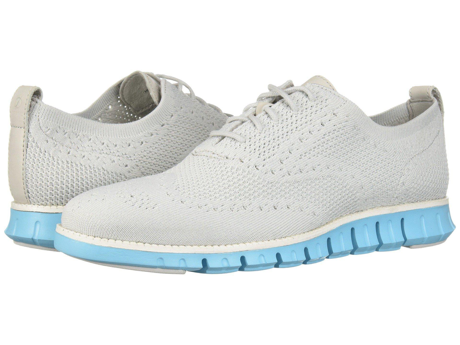 769e5aff20c352 Cole Haan - Gray Zerogrand Stitchlite Oxford (optic White white) Men s  Plain Toe. View fullscreen