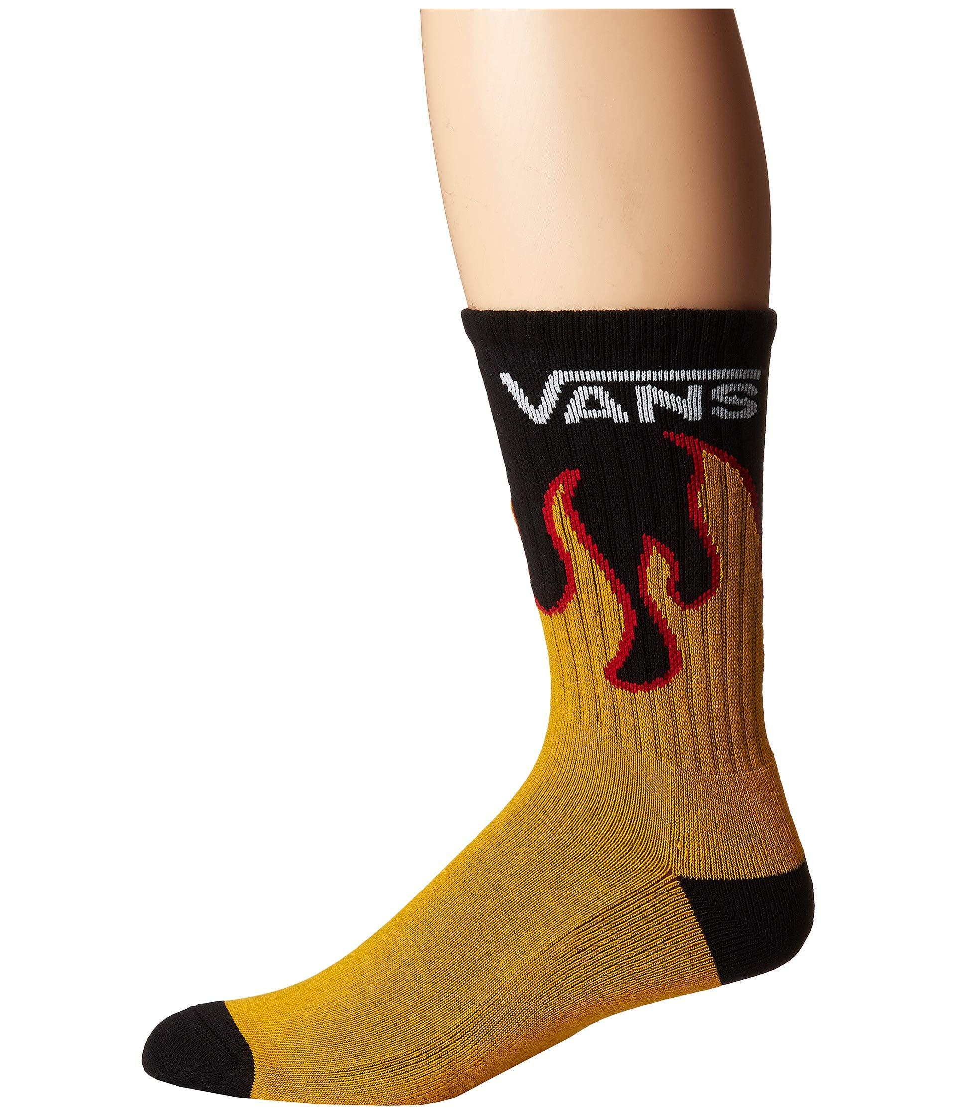 Flames Crew Sock (flame) Men's Crew Cut Socks Shoes