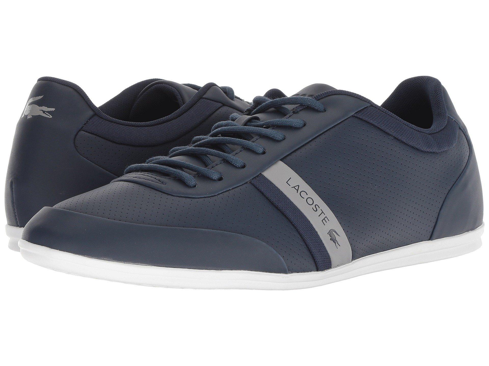 Lacoste Leather Storda 318 1 U in Gray