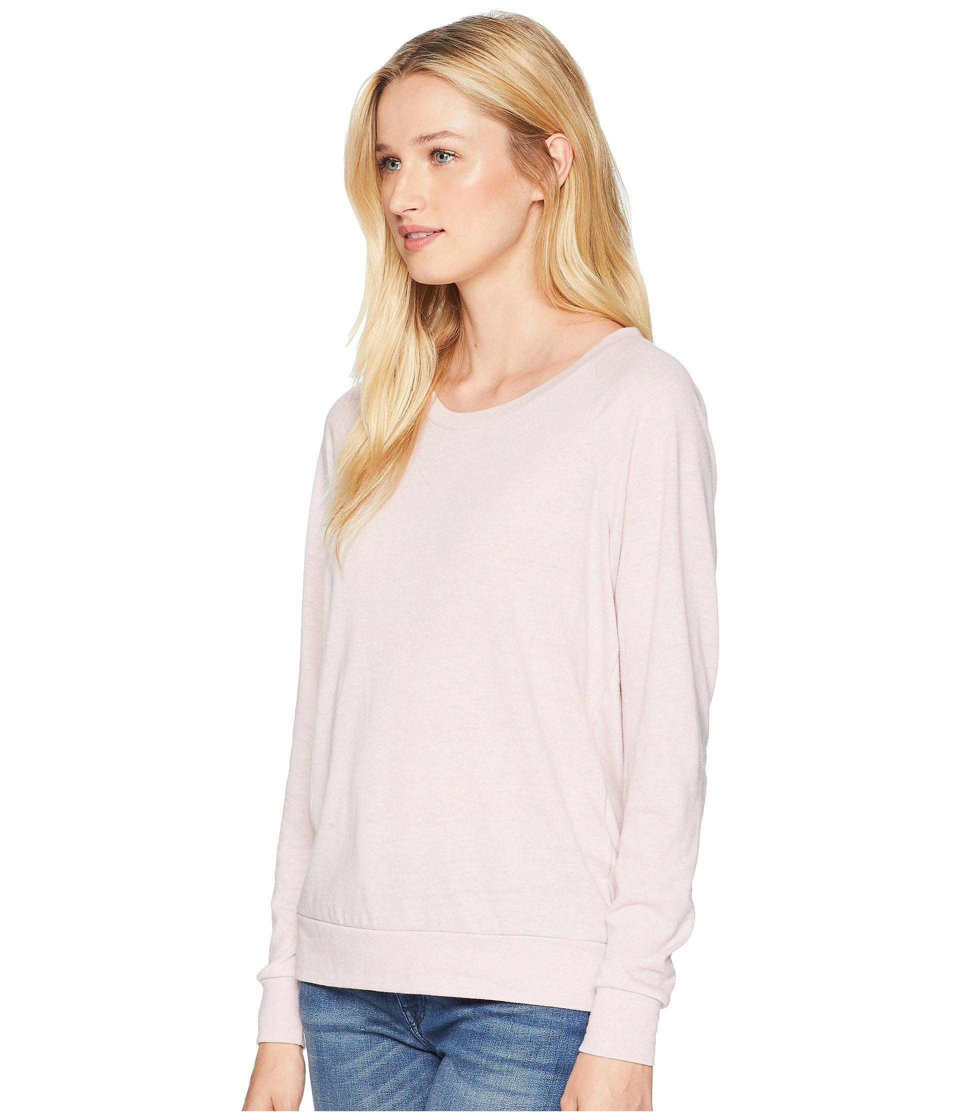 c44618f9735 Lyst - Alternative Apparel Eco-heather Slouchy Pullover (eco True Dusty  Pine eco True Dusty Pine) Women s Long Sleeve Pullover in Pink