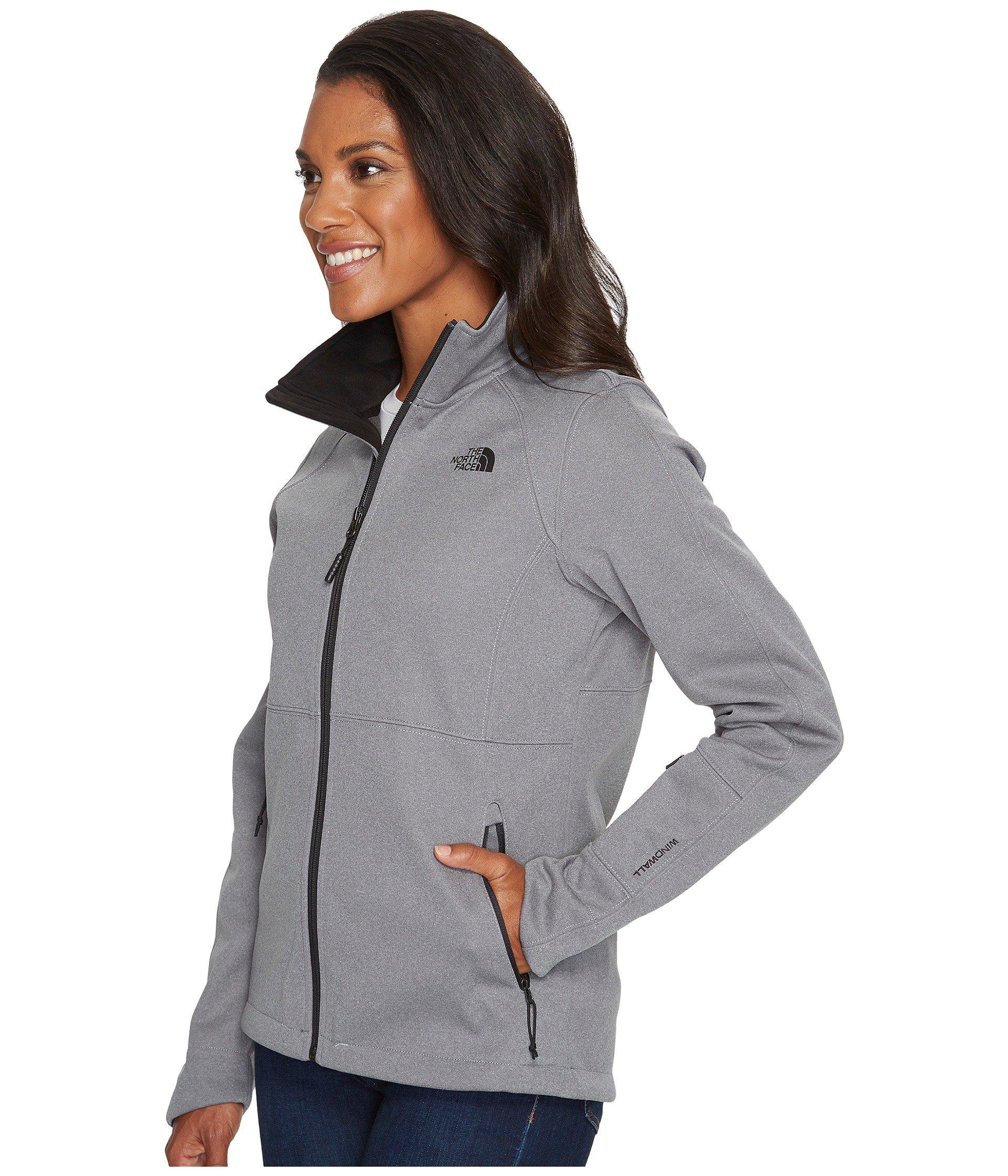 22bb6d9e4f81 Lyst - The North Face Apex Risor Jacket (tnf Medium Grey Heather) Women s Coat  in Gray