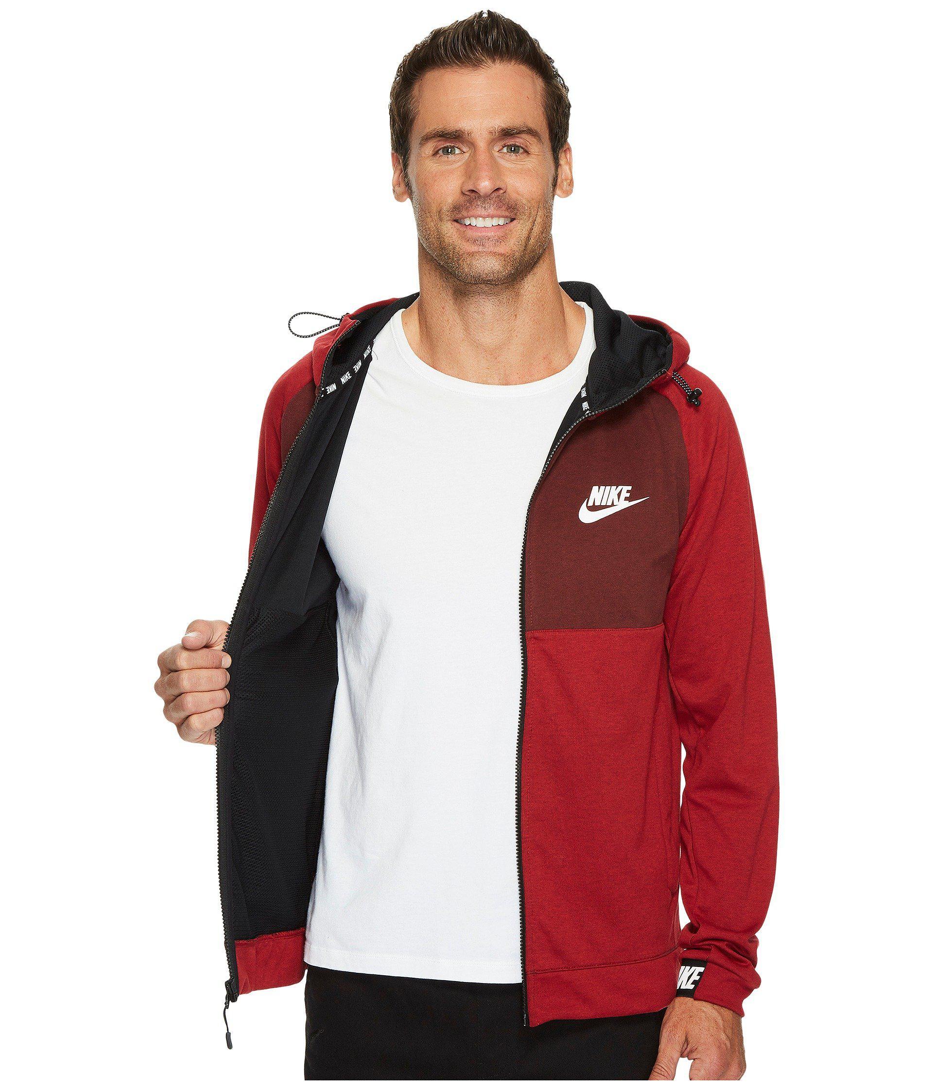 2316dc51540a Lyst - Nike Sportswear Advance 15 Full Zip Hoodie in Red for Men