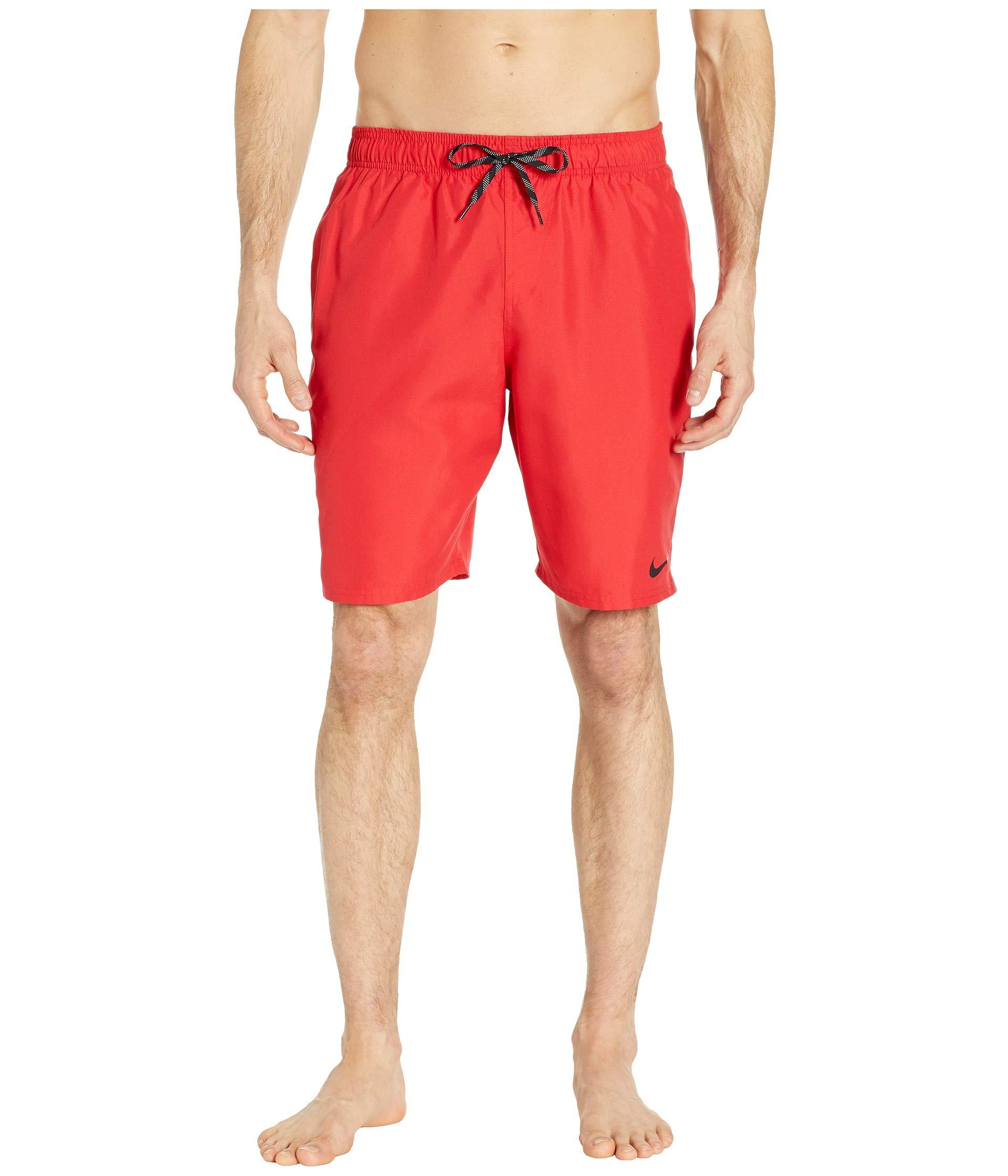 173e21ded0 Nike. Red 9 Perforated Diverge Volley Shorts (black) Men's Swimwear