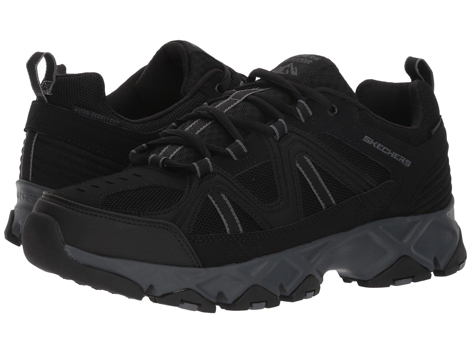 Skechers Leather Crossbar In Black For Men Lyst