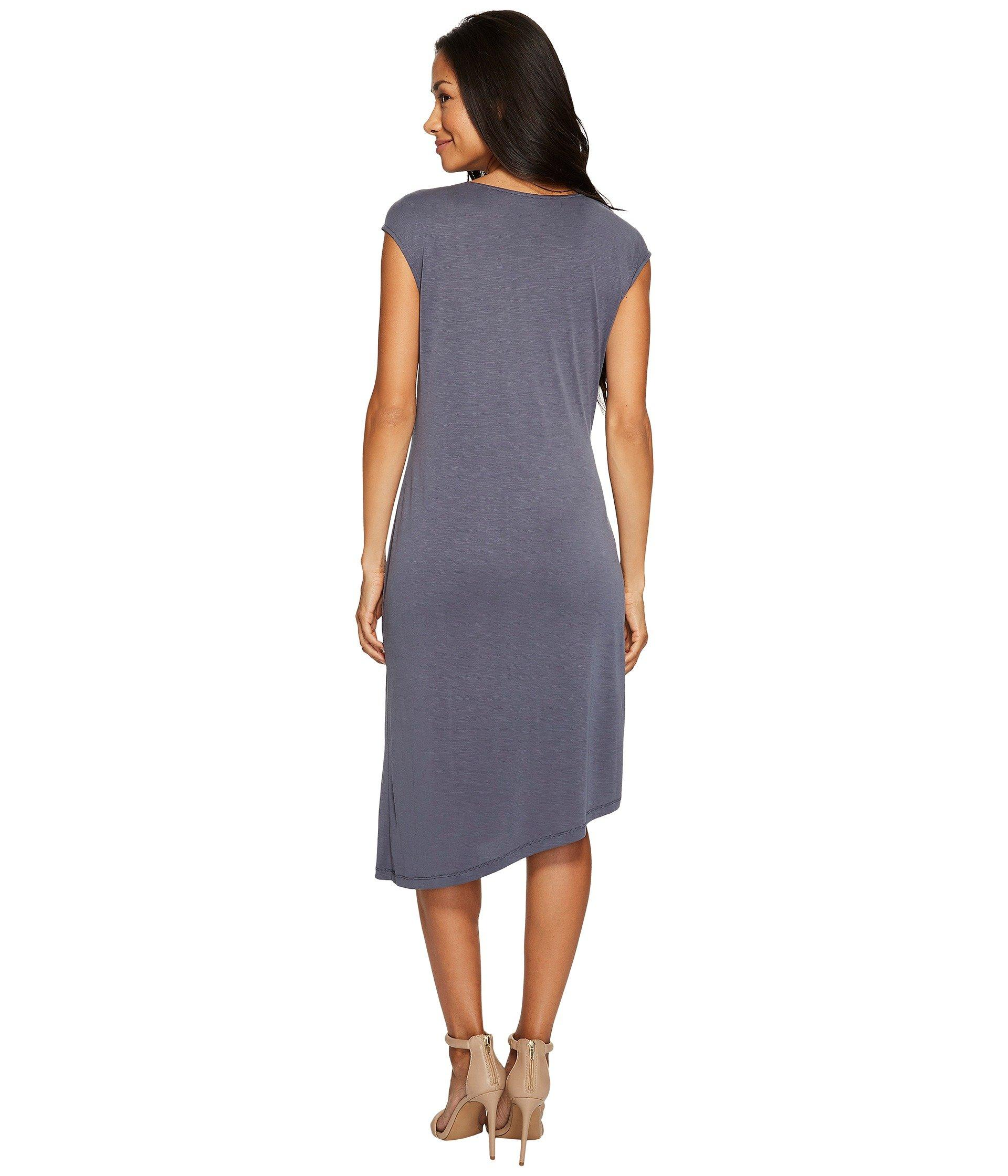Nic Zoe Cloud Nine Women/'s Asymmetric Ruched Cap Sleeve Midi Dress