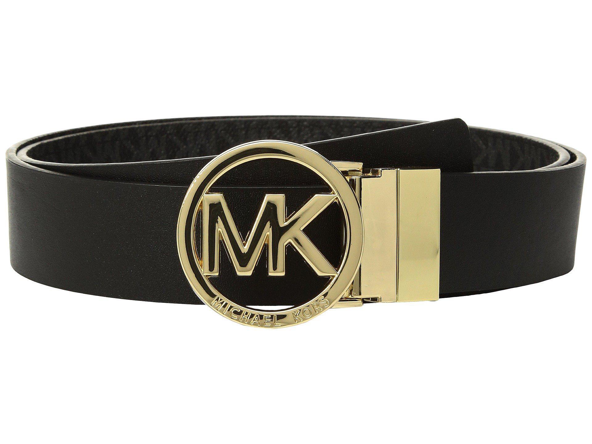 01d1ae1b86227 MICHAEL Michael Kors Fulton Smooth To Logo Reversible Belt in Black ...