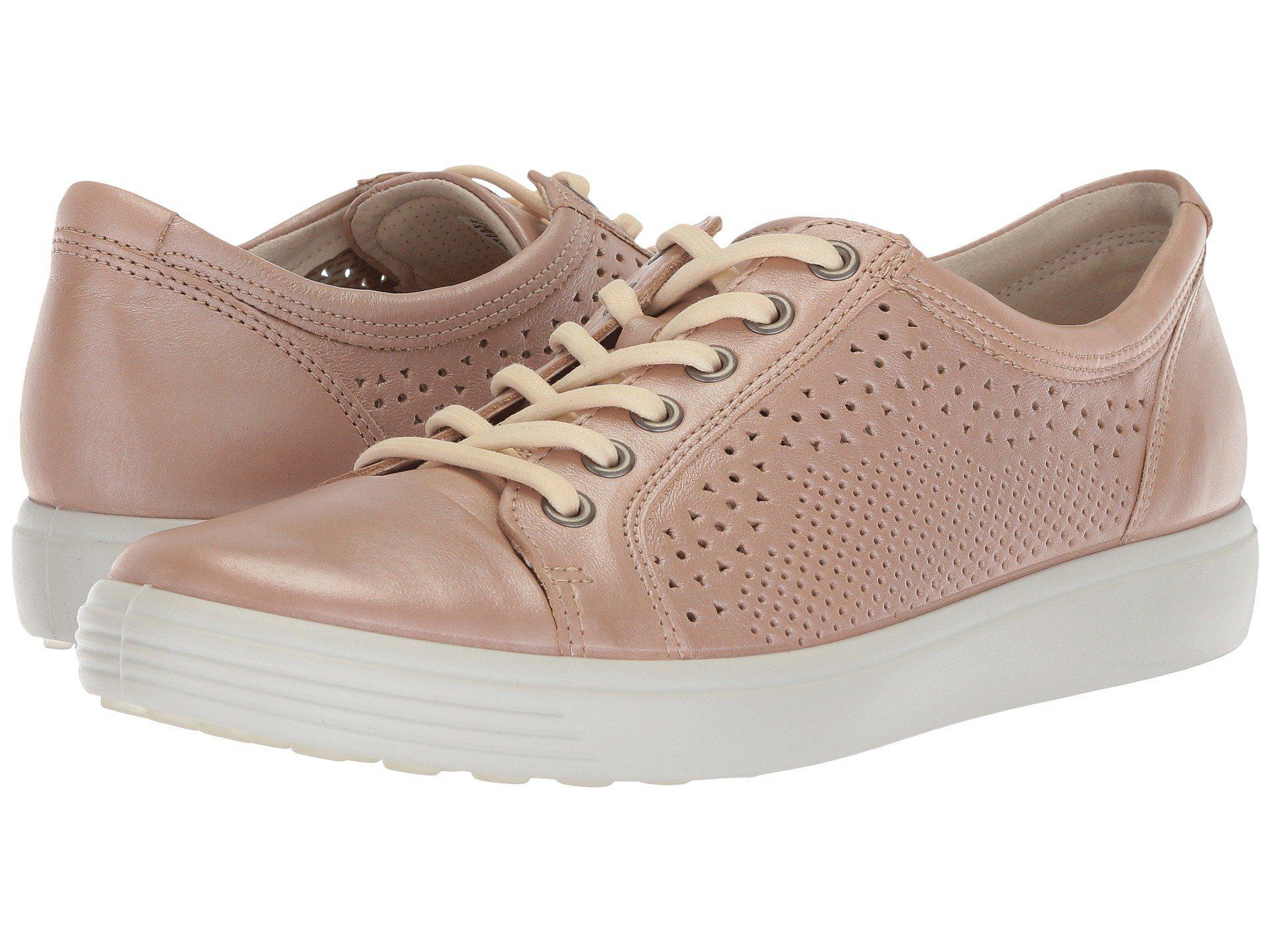 Ecco Leather Soft 7 Trend Tie Sneaker