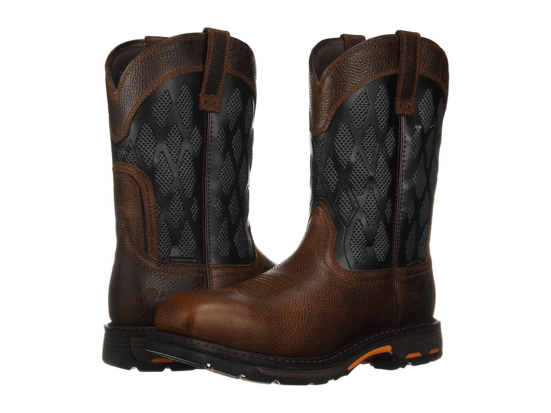 4b221f3c4b9 Men's Brown Workhog Venttek Matrix Composite Toe
