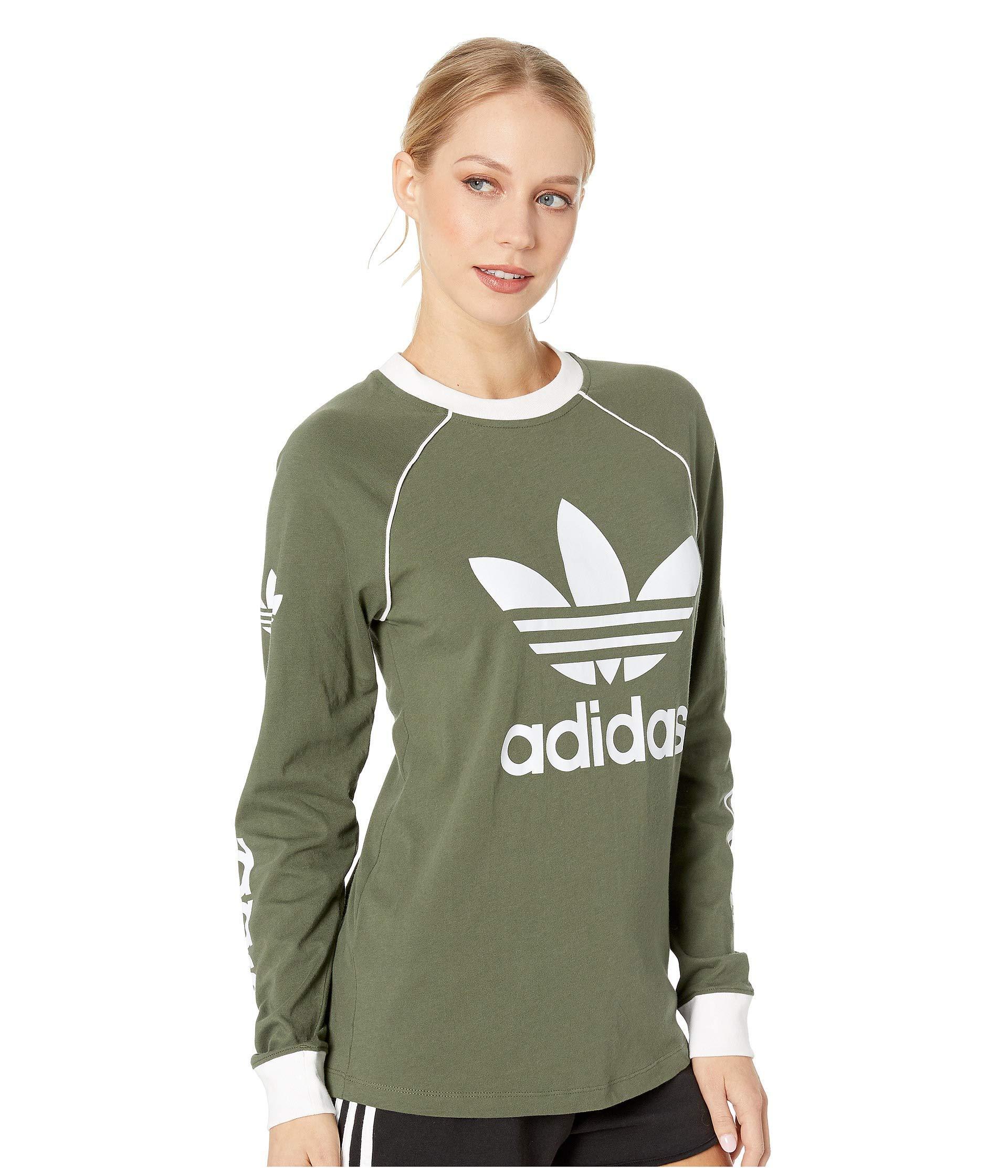 0e8a891dd adidas Originals Og Long Sleeve (base Green) Women's Long Sleeve ...