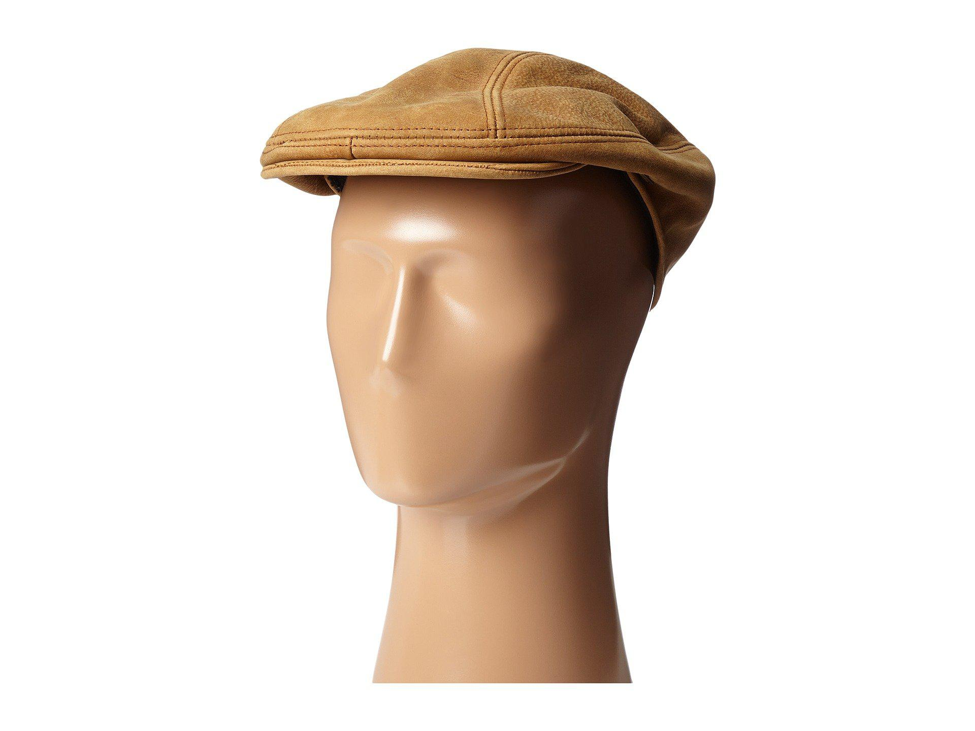 1ba351d774c Lyst - Stetson Distressed Leather Ivy Cap (brown) Caps in Brown for Men
