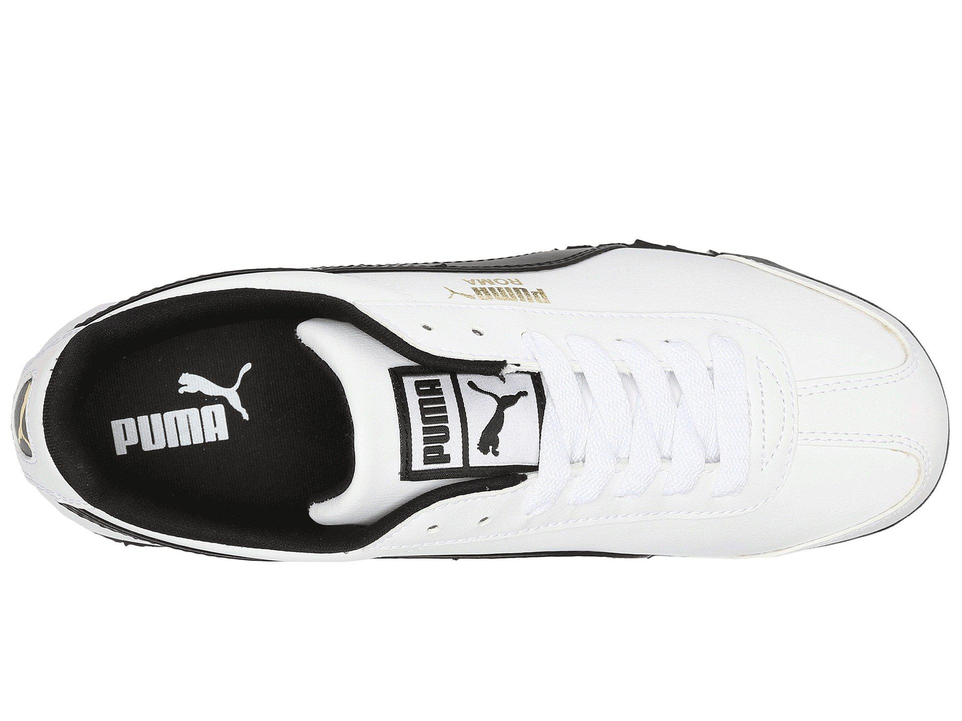 9af82293993453 PUMA - White Roma Basic (black black) Men s Shoes for Men - Lyst. View  fullscreen