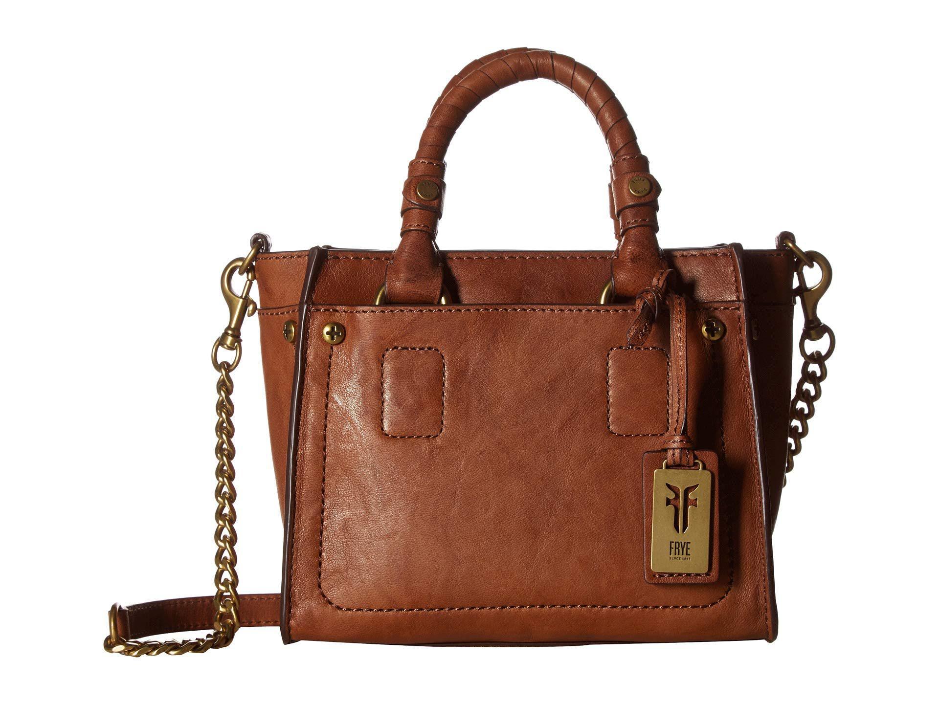 Frye Women S Brown Demi Mini Satchel Whiskey Antique Soft Vintage Handbags