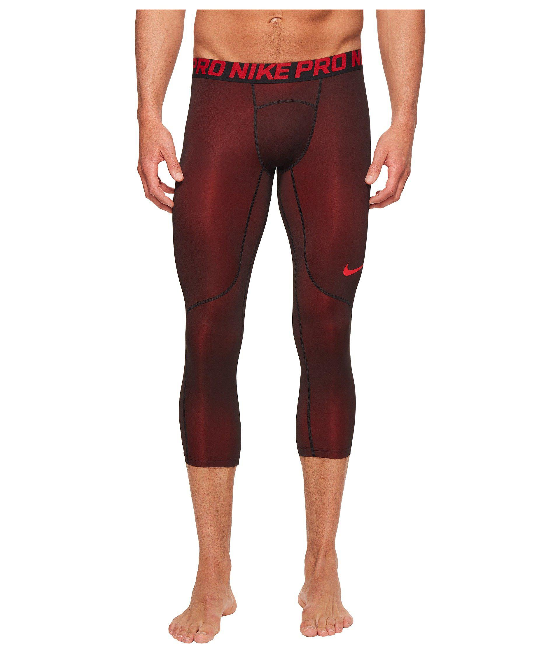 854e0cefe2e6c Nike Pro Colorburst 3/4 Tight (university Red/black) Men's Casual ...
