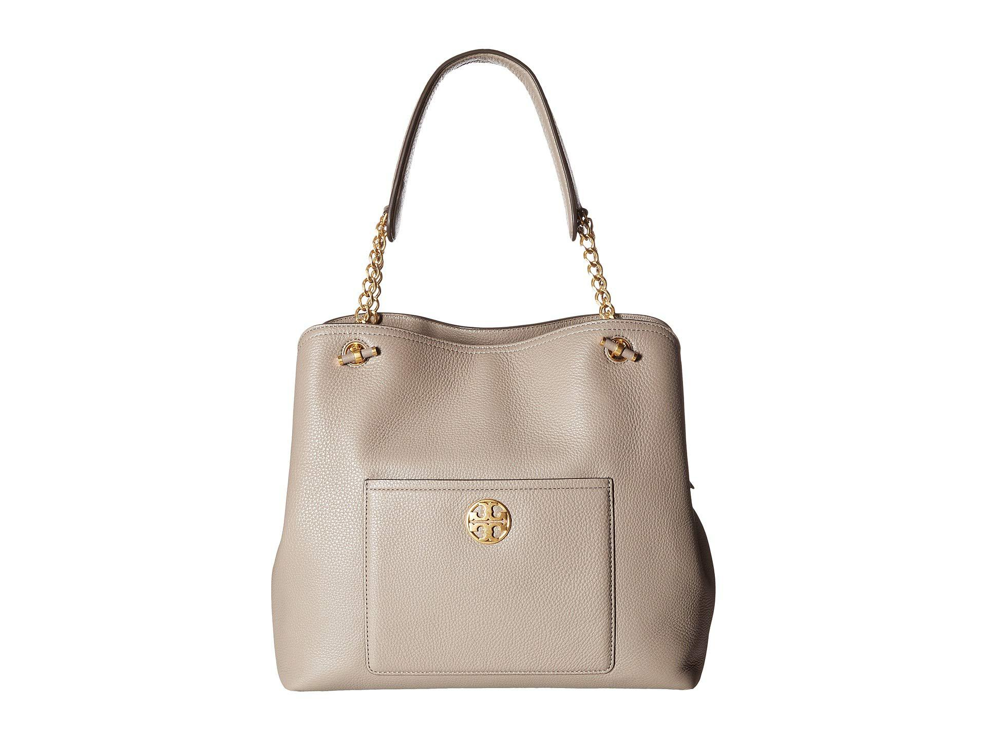 65e616cbb66 Lyst - Tory Burch Chelsea Slouchy Leather Tote