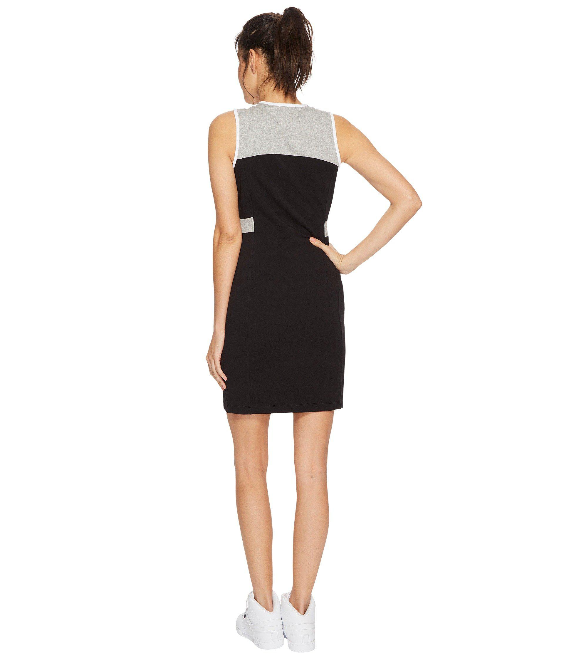 ab181ee91e91 Lyst - Fila Lacey Dress (white black gray Heather) Women s Dress in ...