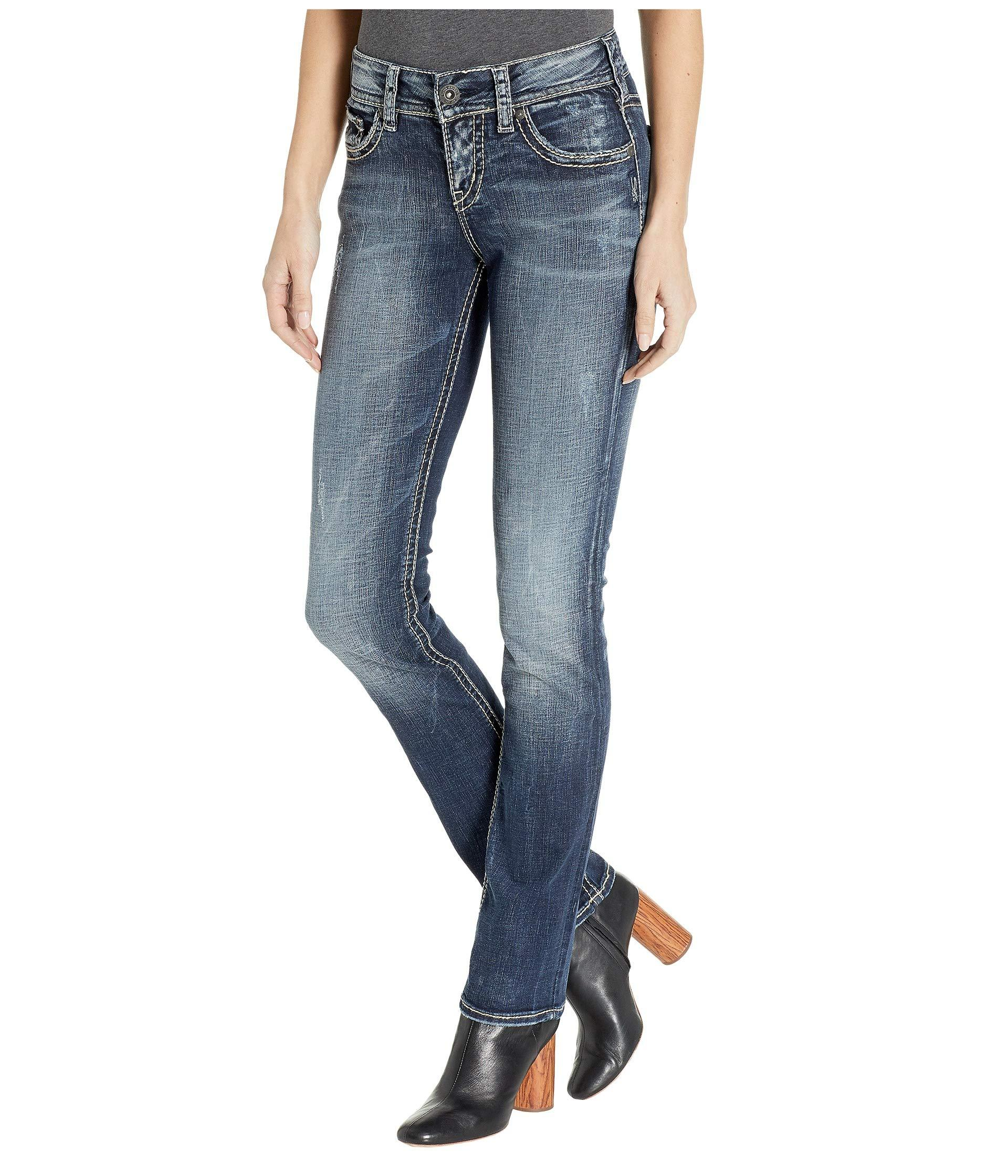 bb330732 Silver Jeans Co. Suki Mid-rise Well Defined Curve Mid Straight Jeans ...