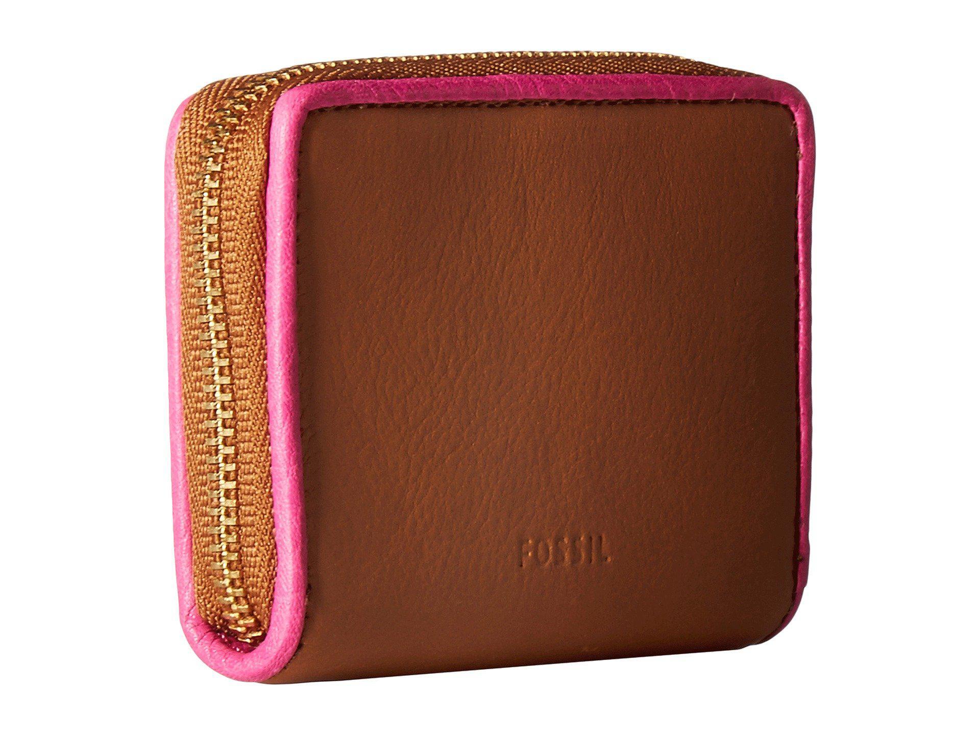 buy online 63b9d af84c Fossil Multicolor Rfid Mini Zip Card Case