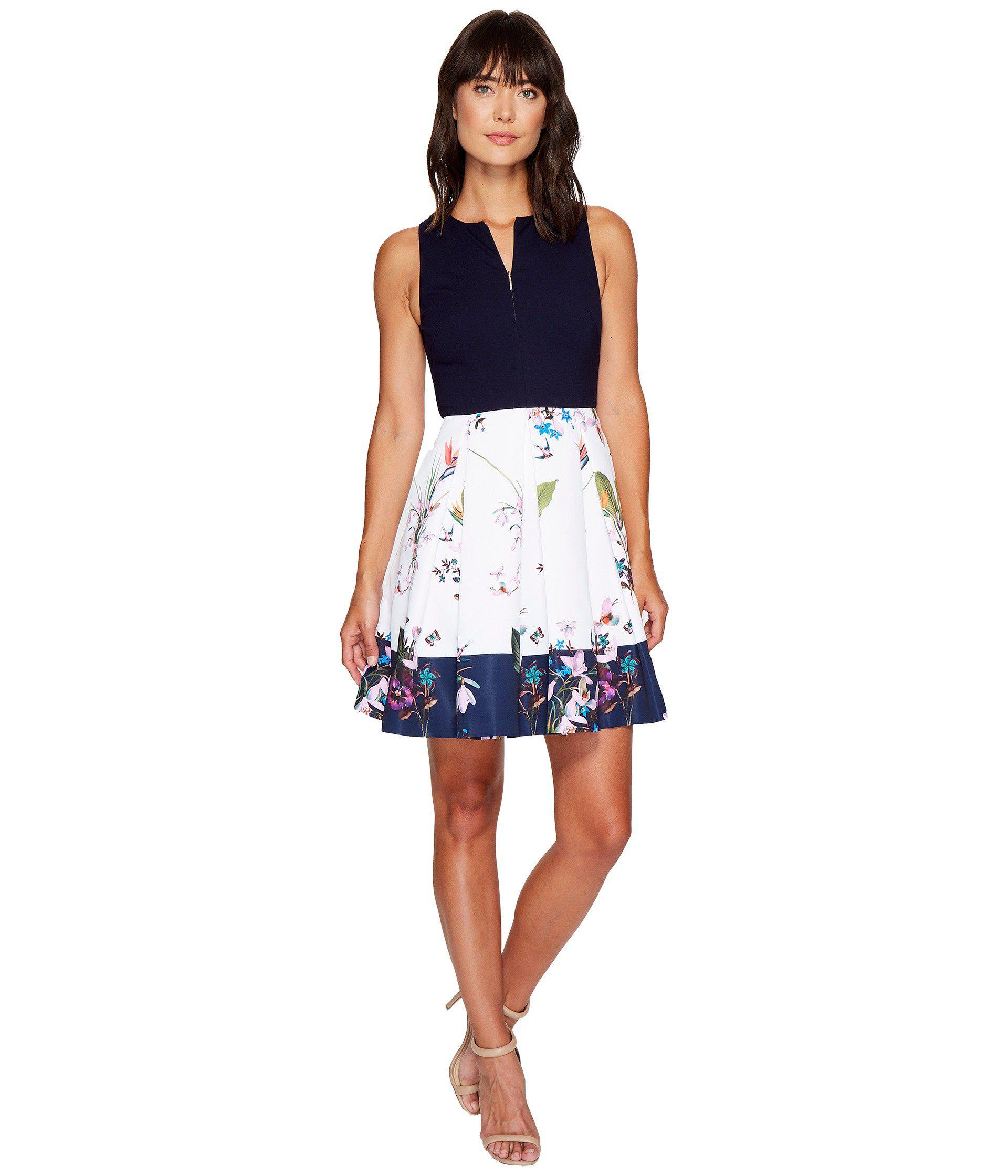 7b6effb66 Lyst - Ted Baker Petali Tropical Oasis Bodice Dress in Blue