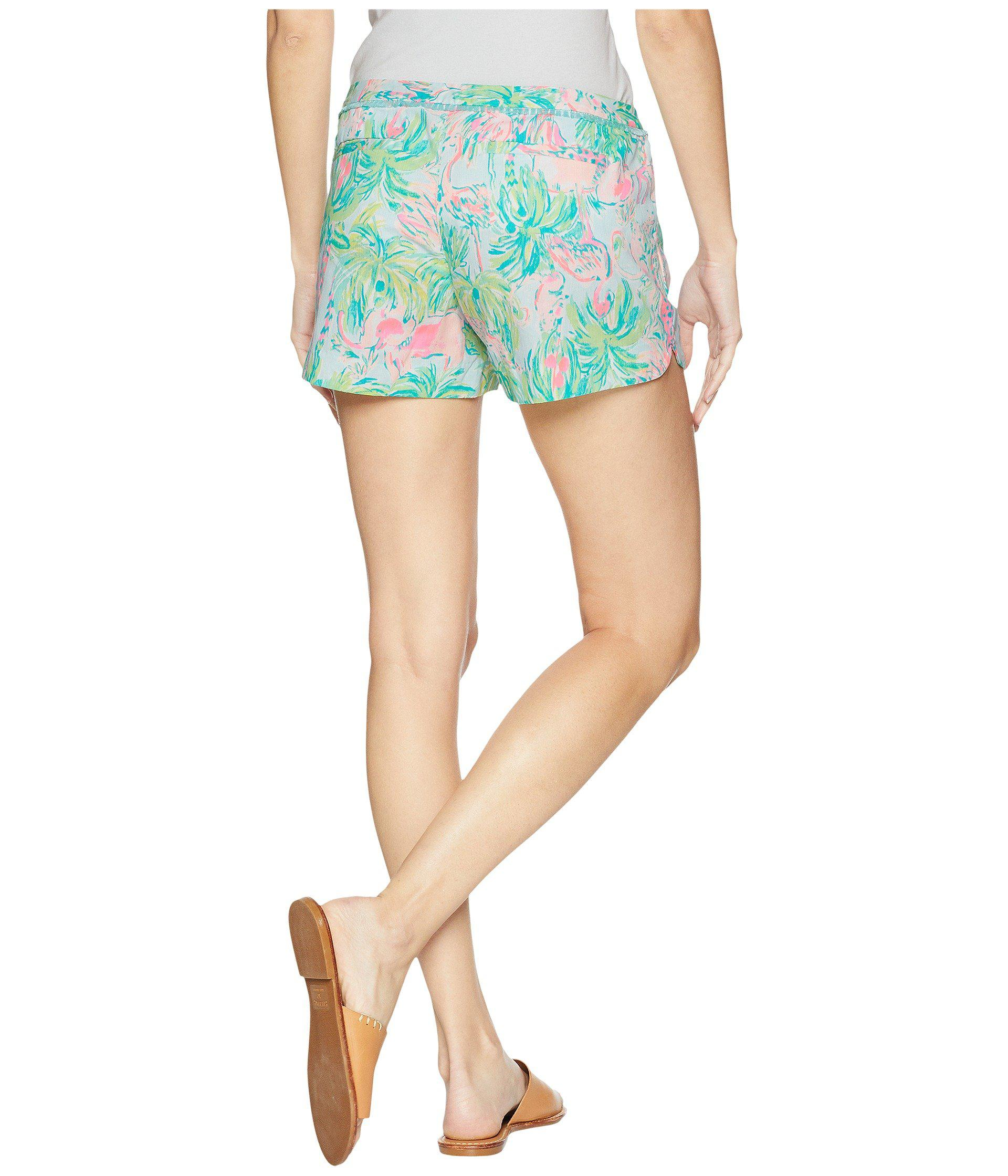 Lilly Pulitzer Womens Adie Shorts Seasalt Blue On Parade 0 4