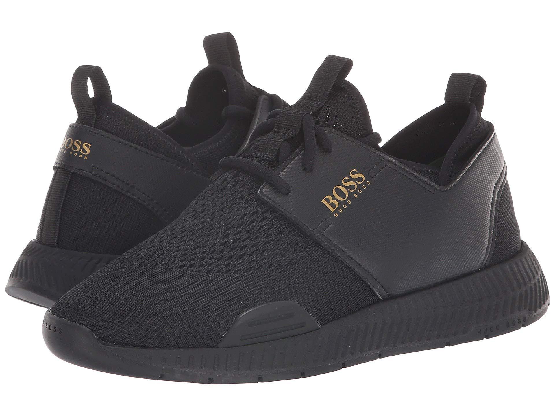 dfe36344ea9 Lyst - BOSS Titanium Sporty Mesh Sneaker By Boss Green (black) Men s ...