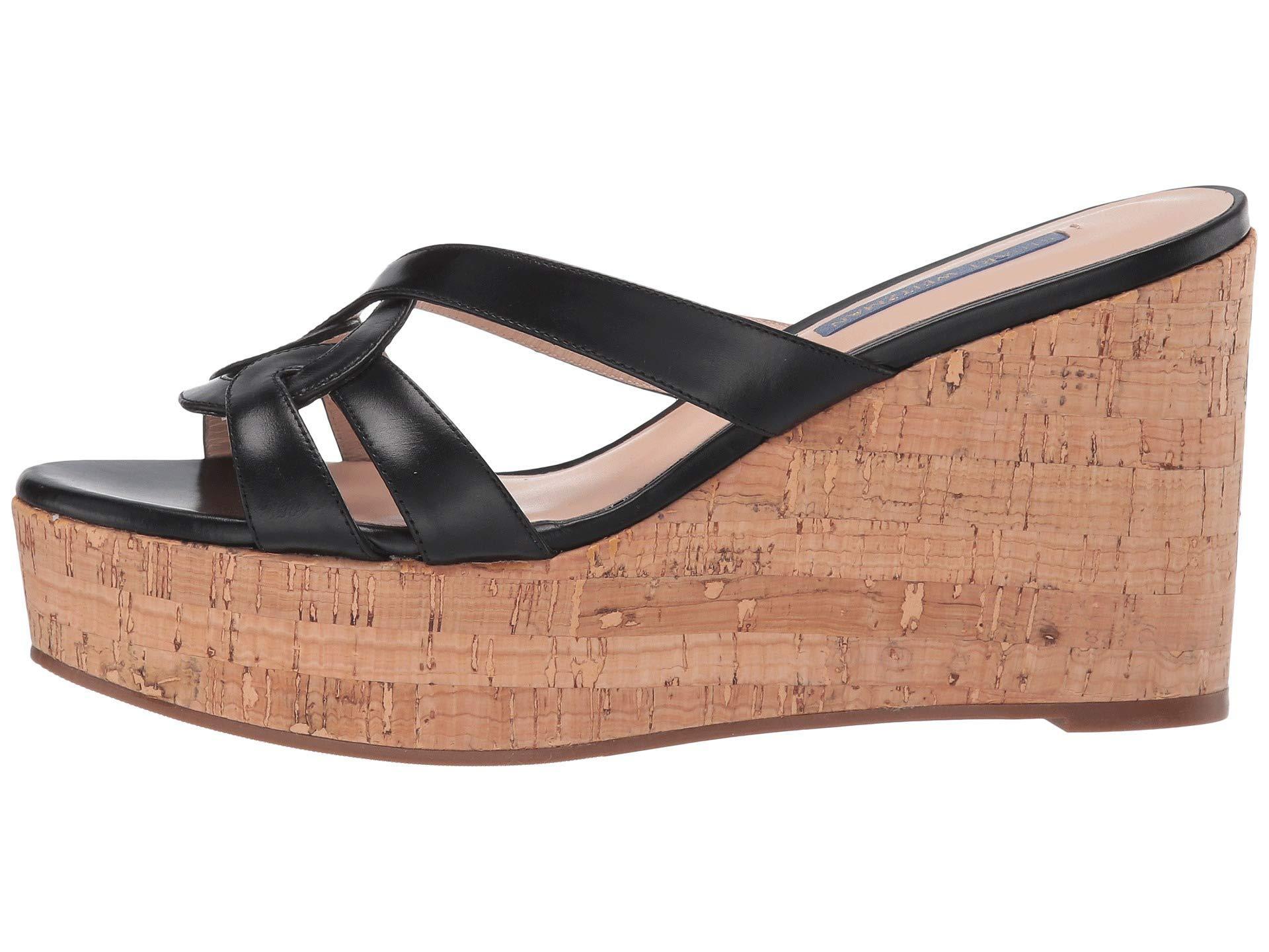 3e0ebf370bba Lyst - Stuart Weitzman Cadence (black Shine Calf) Women s Shoes