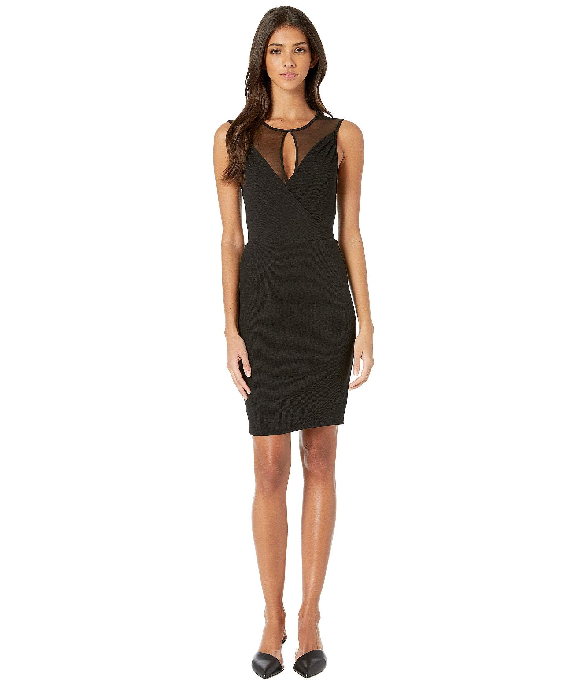afb39478b63 BCBGeneration Faux Wrap Cut Out Dress (black) Women s Dress in Black ...