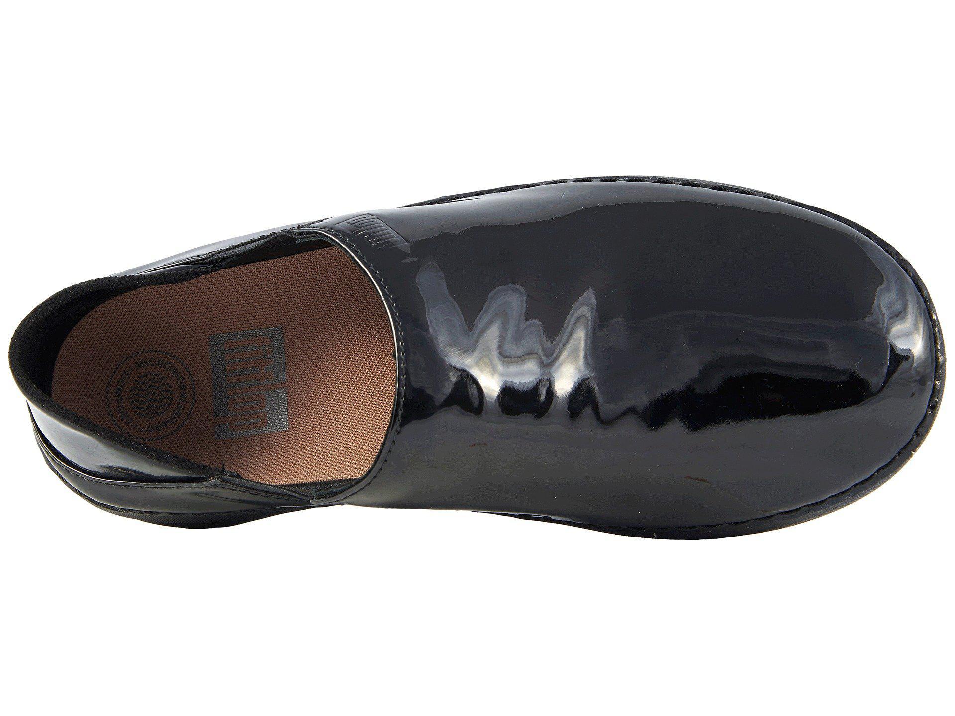 b20ca448aeeb Fitflop - Superloafer Patent (black) Women s Slip On Shoes - Lyst. View  fullscreen