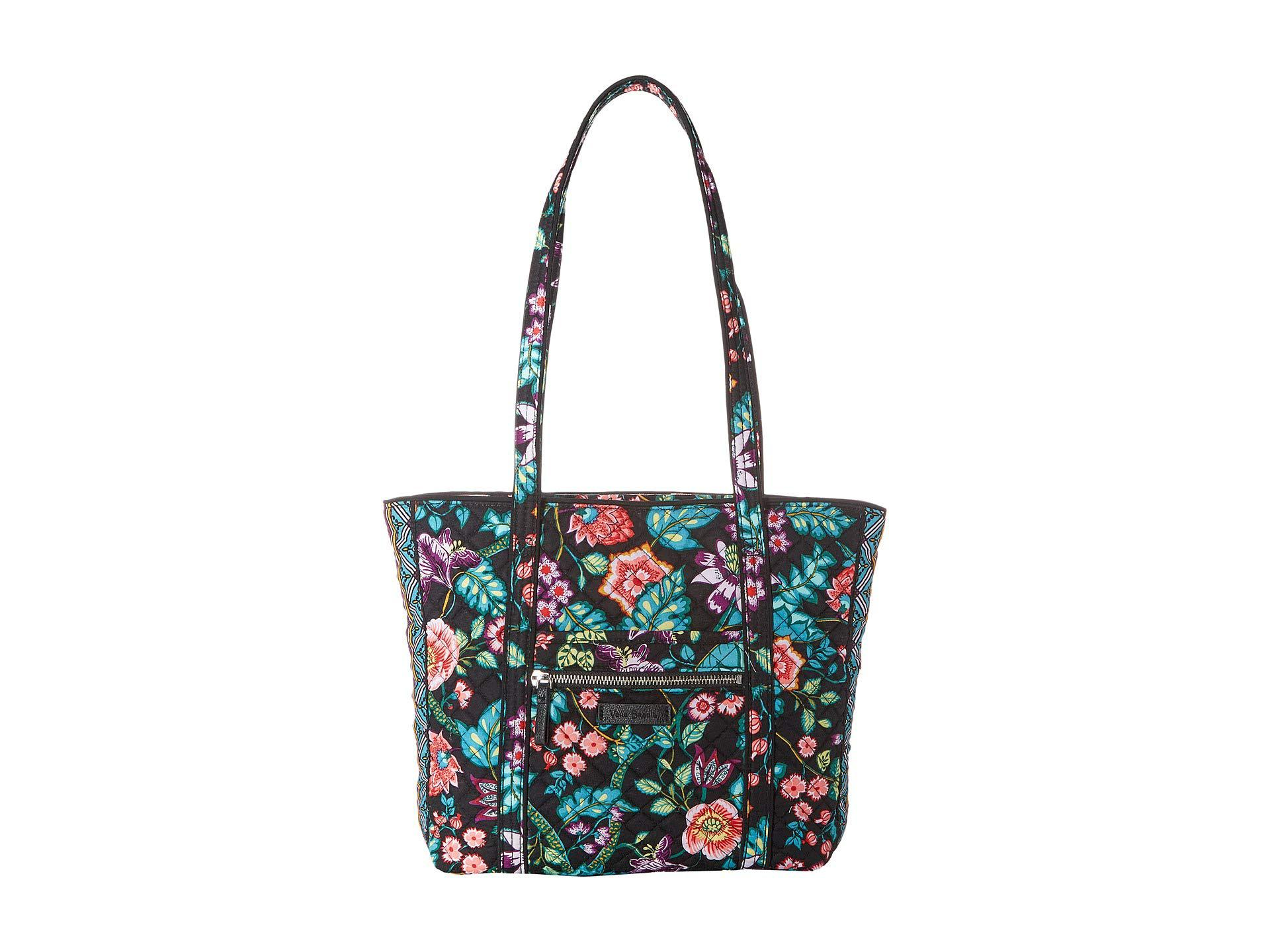 500c47e433ba Vera Bradley. Women s Blue Iconic Small Vera Tote (charcoal Medallion) Tote  Handbags