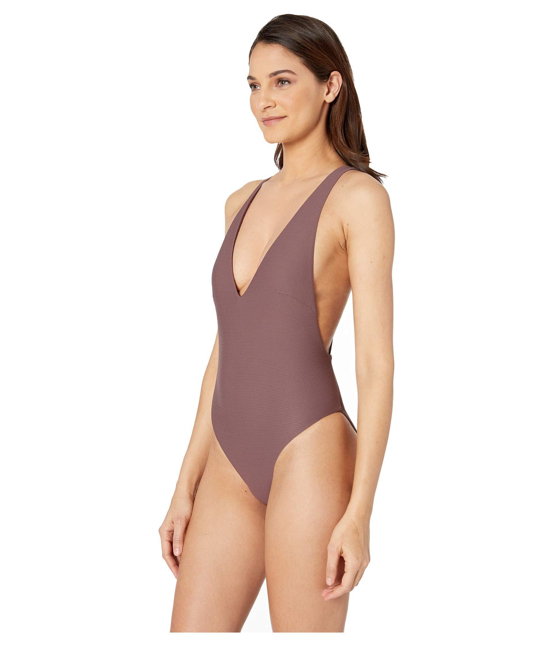95d00eeb4c Lyst - Vitamin A Alana Bodysuit Full (sultana Biorib) Women s Swimsuits One  Piece in Purple
