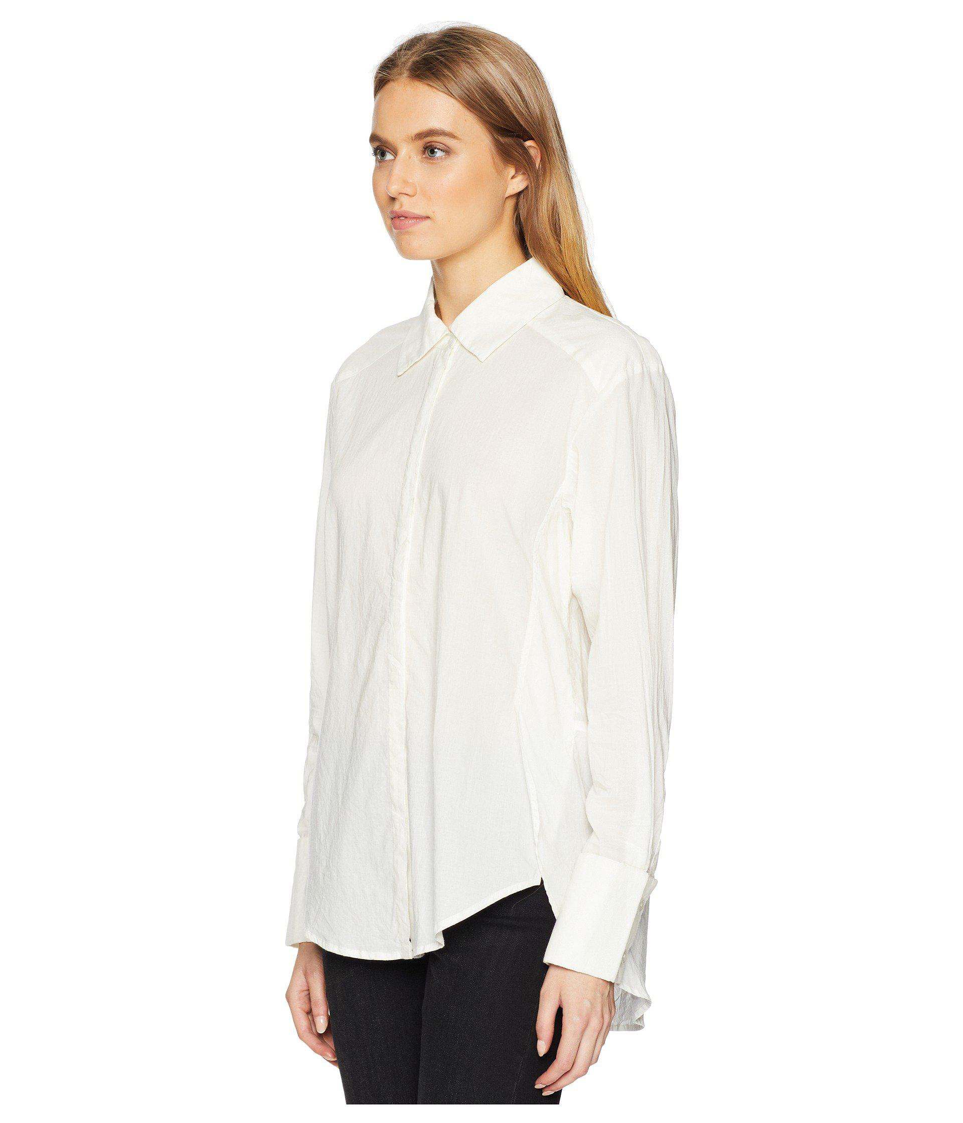 Lyst Paige Clemence Shirt With French Cuff White Women S